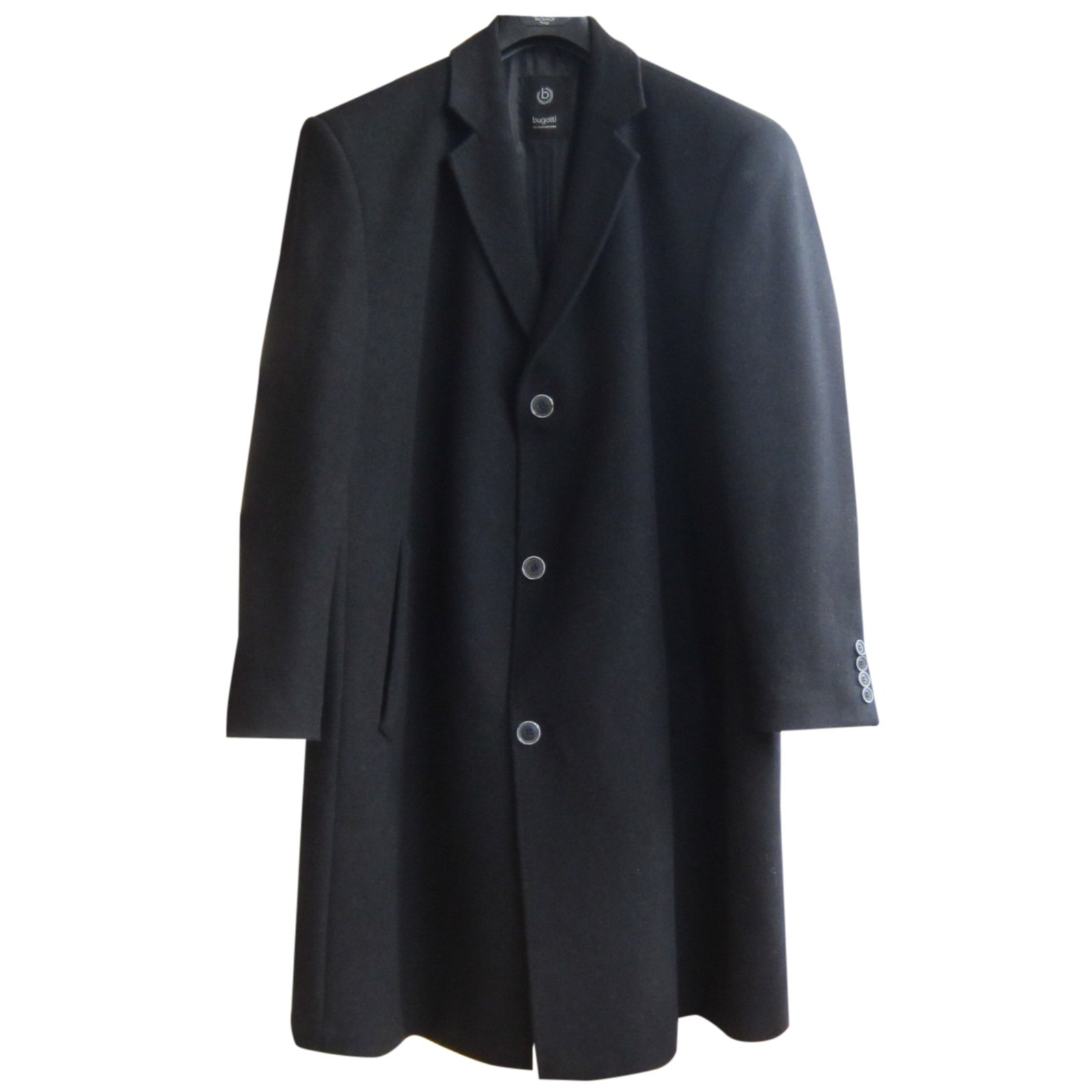 Manteau homme laine noir