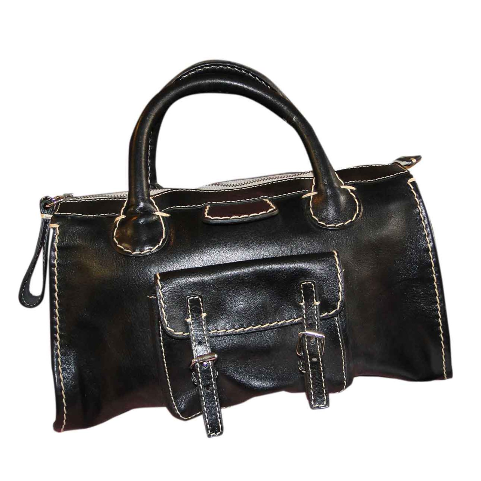 sacs main chlo edith cuir noir joli closet. Black Bedroom Furniture Sets. Home Design Ideas