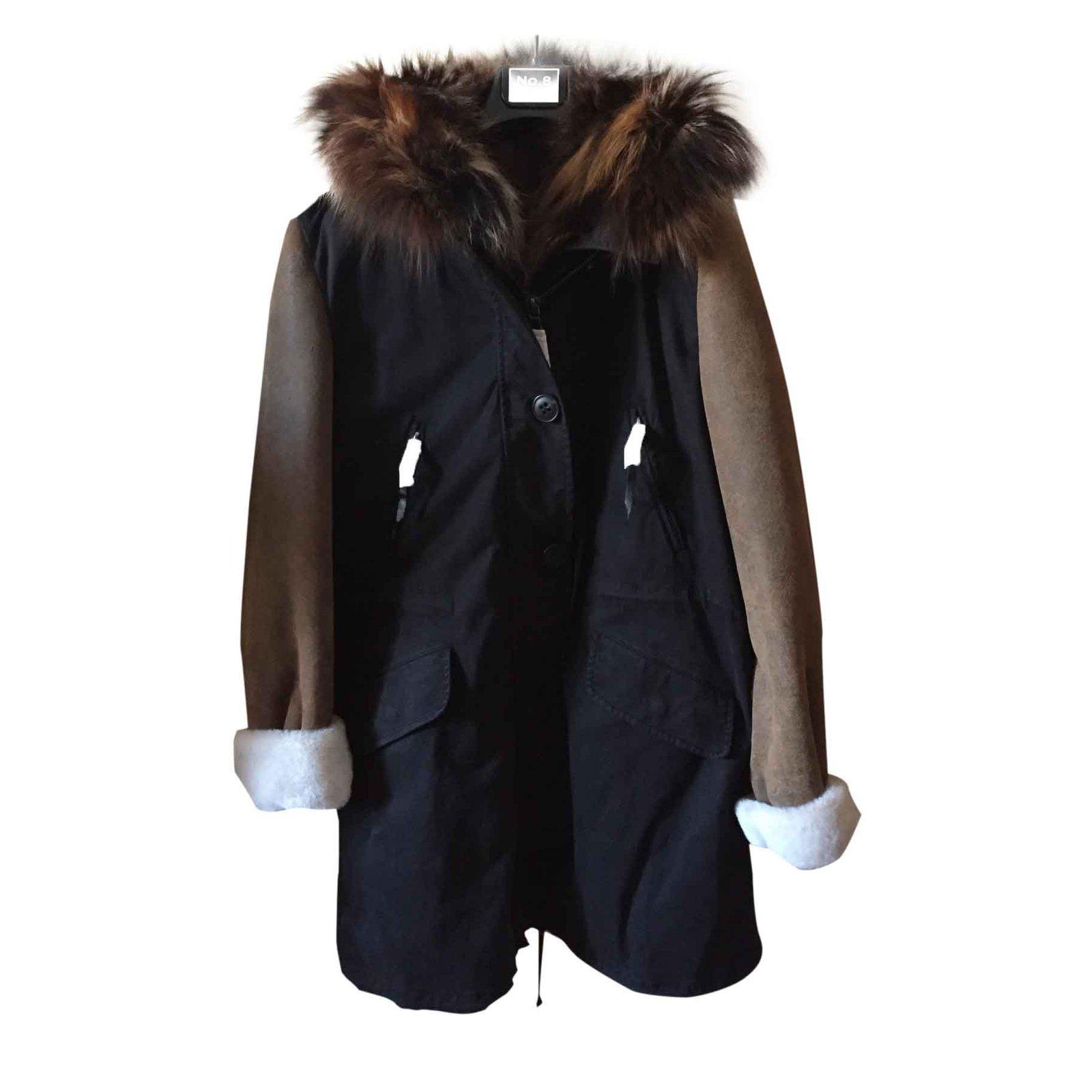im Angebot neues Design Kauf authentisch Blonde No.8 Parka Coats, Outerwear Fur Black ref.26576 ...