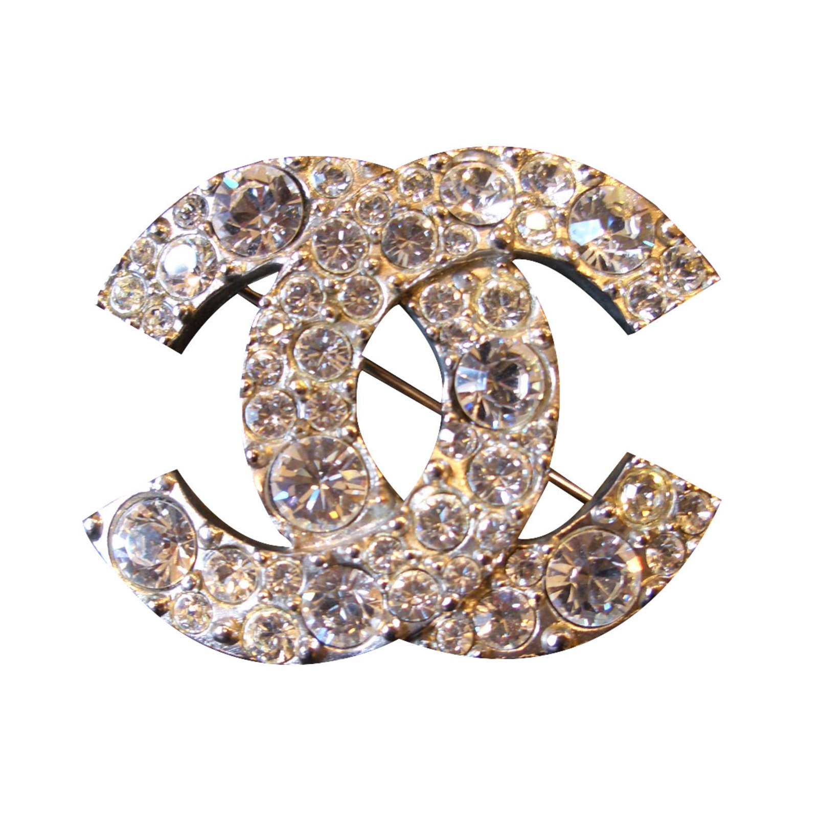 chanel crystal channel dsc vintage gold pearl brooch bow