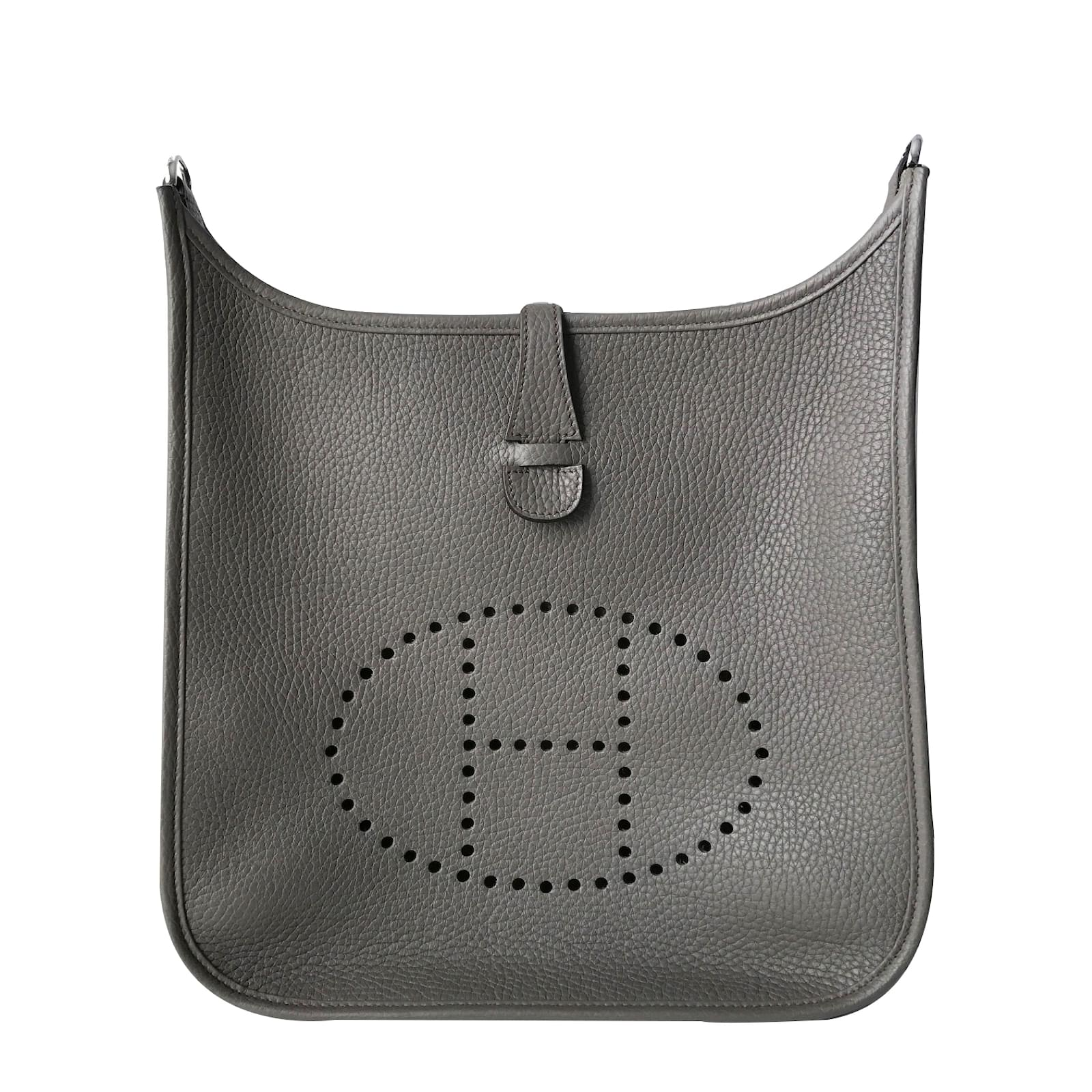 3a62a558be05 ... reduced hermès evelyne 29 handbags leather dark grey ref.26749 f9734  78a59