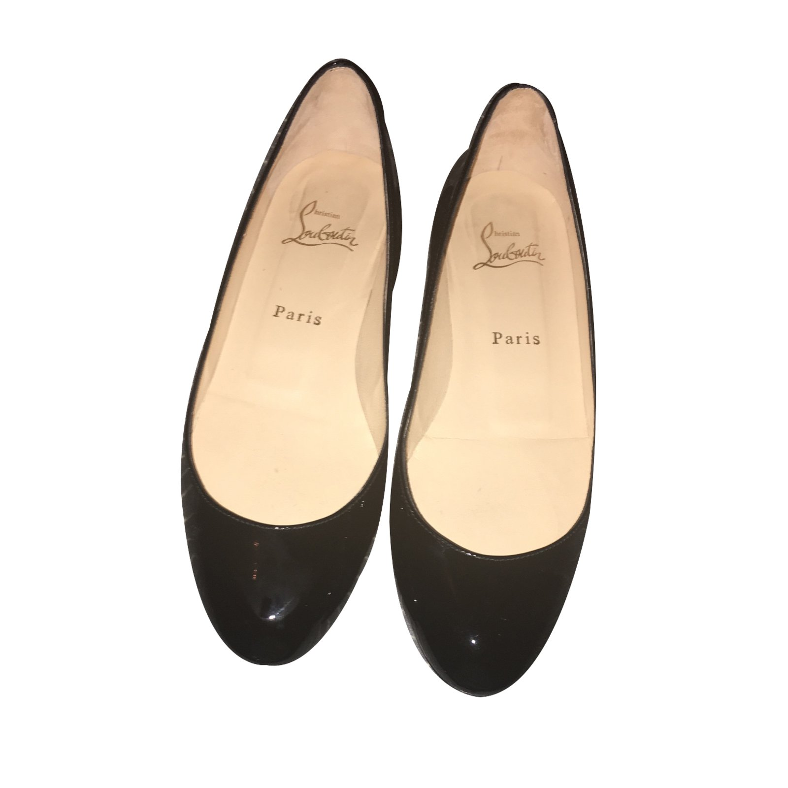 8df3a125be3f Christian Louboutin Fifi Ballet flats Patent leather Black ref.27076 ...