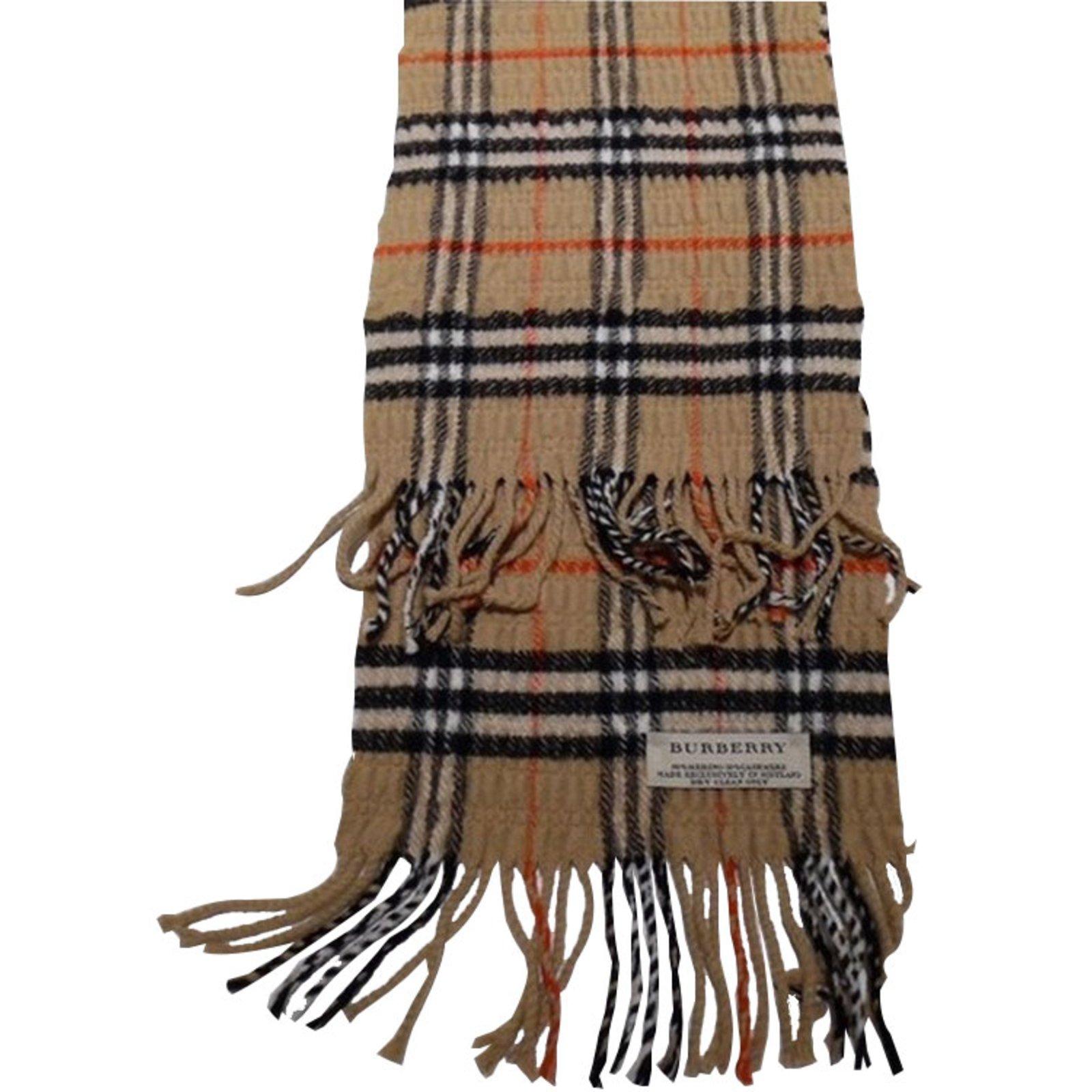 burberry scarf scarves wool beige ref 27201