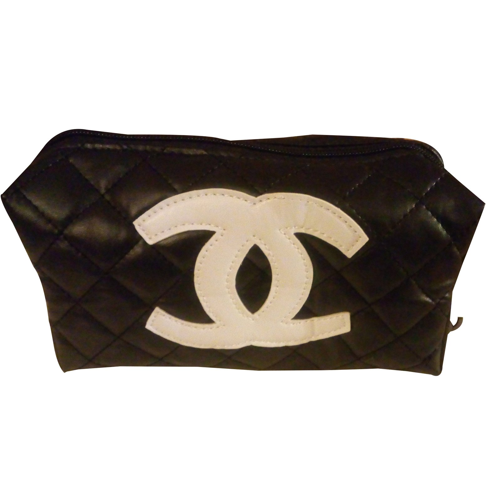 Chanel Makeup Bag Vip Gifts Plastic Black Ref 27410