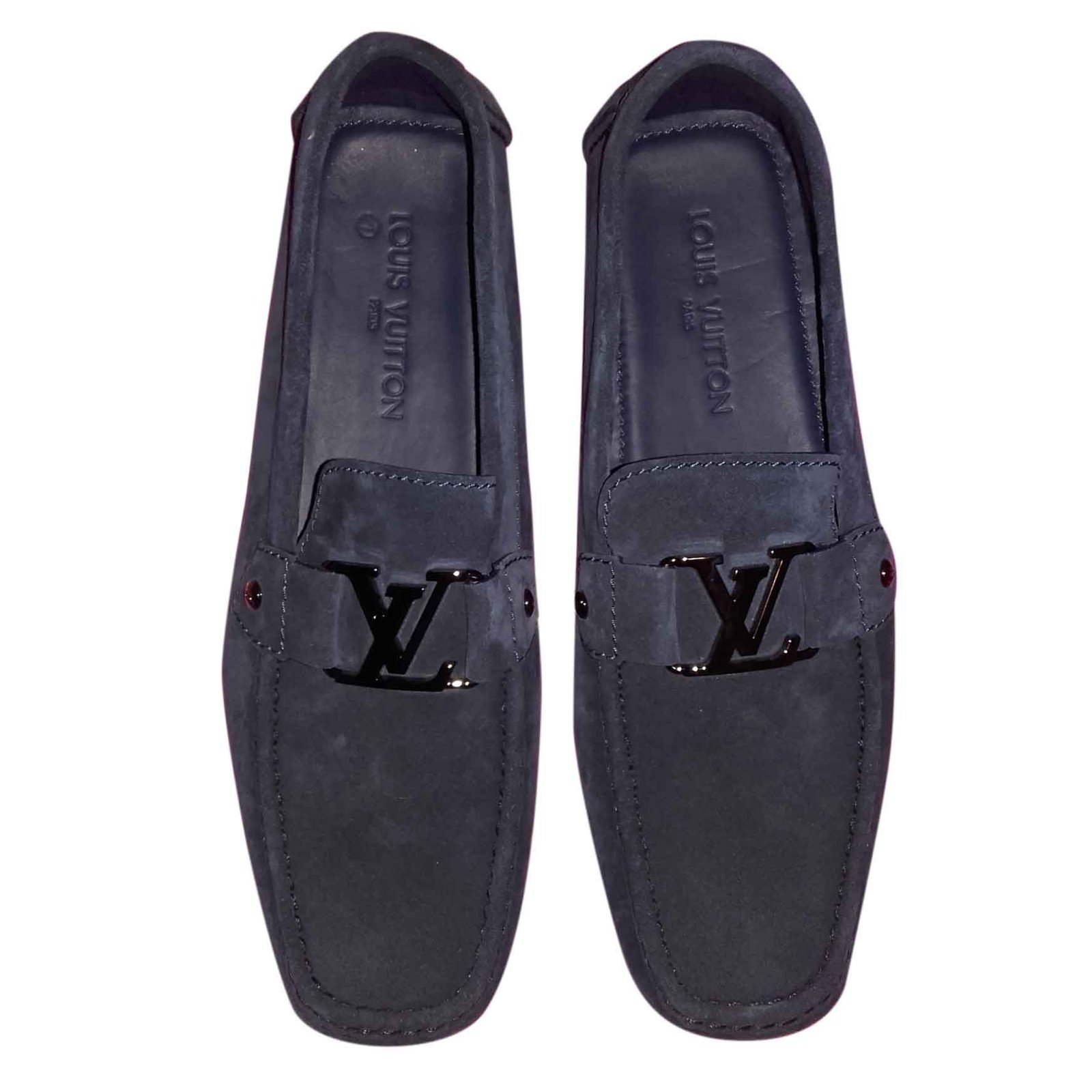 a219544f66a2 Louis Vuitton Loafers Slip ons Loafers Slip ons Leather Blue ref.27531