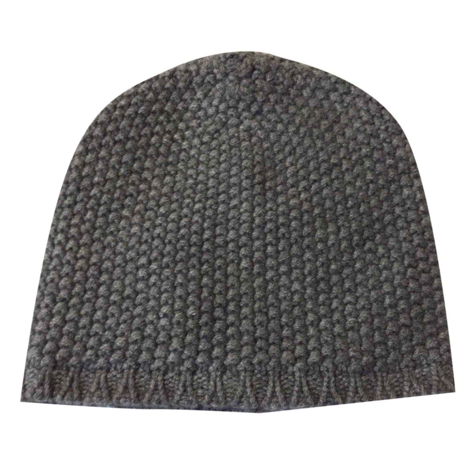 ee9ccdb3918cfb Dolce & Gabbana Grey beanie hat Hats Beanies Cashmere Grey ref.27554 ...