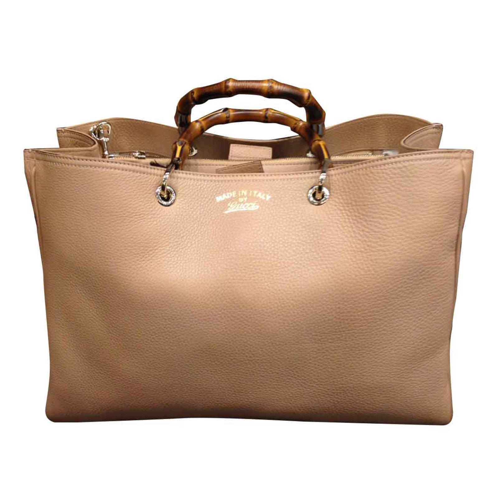c4d30e72d88b Gucci GUCCI BAMBOO BAG NEW NEVER WORNED Totes Leather Beige ref.28081