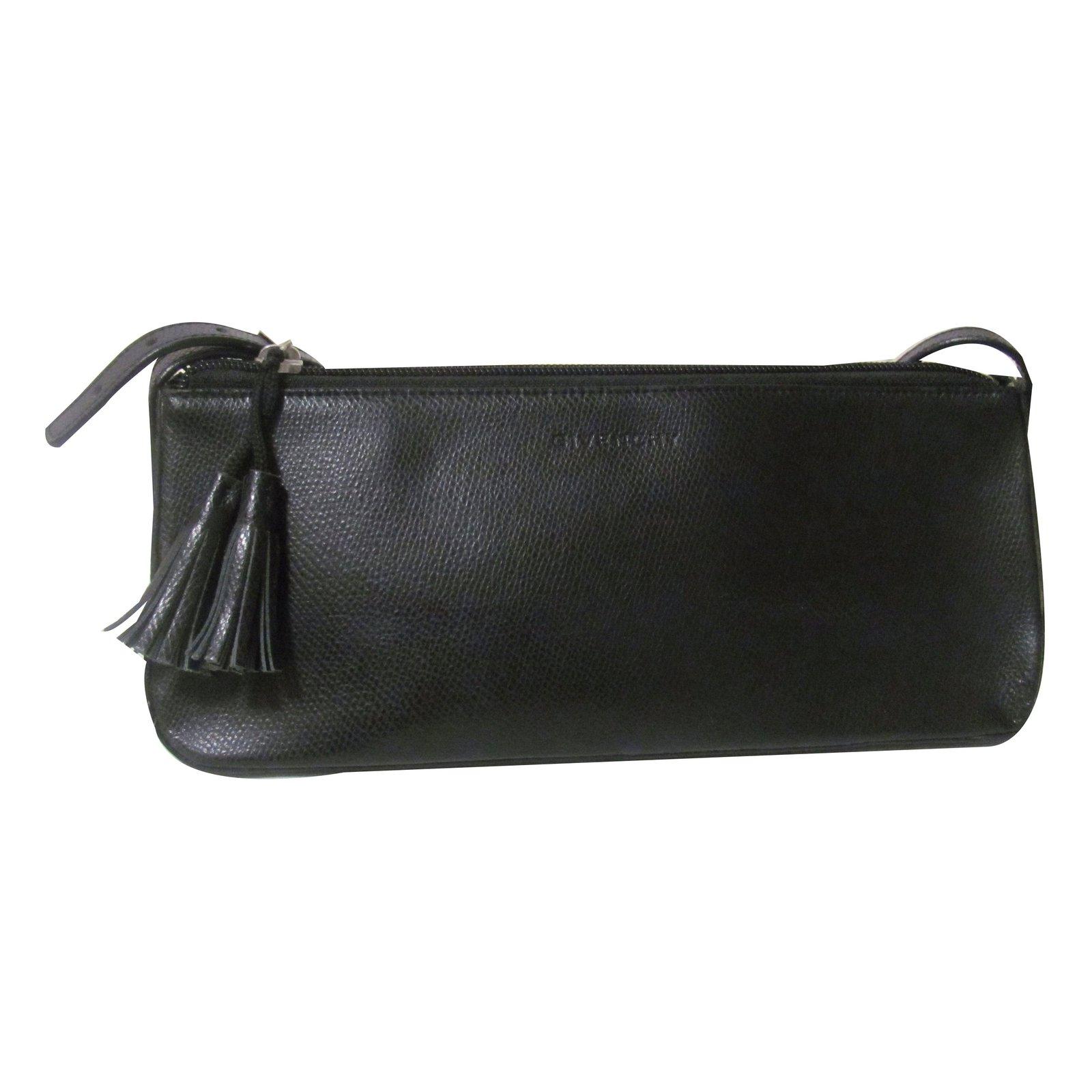 sacs main givenchy sac pochette cuir noir joli closet. Black Bedroom Furniture Sets. Home Design Ideas