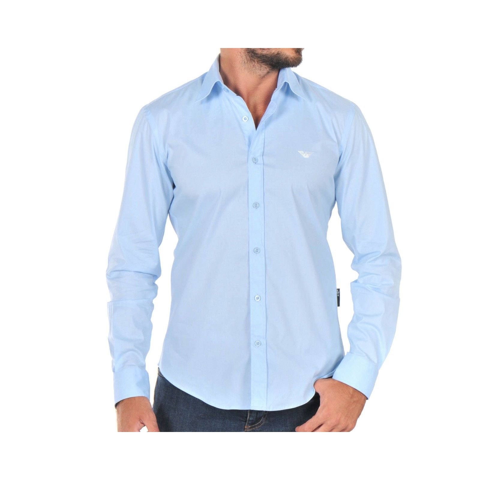 5a415a48f2 men's light blue casual fashion shirt nwt
