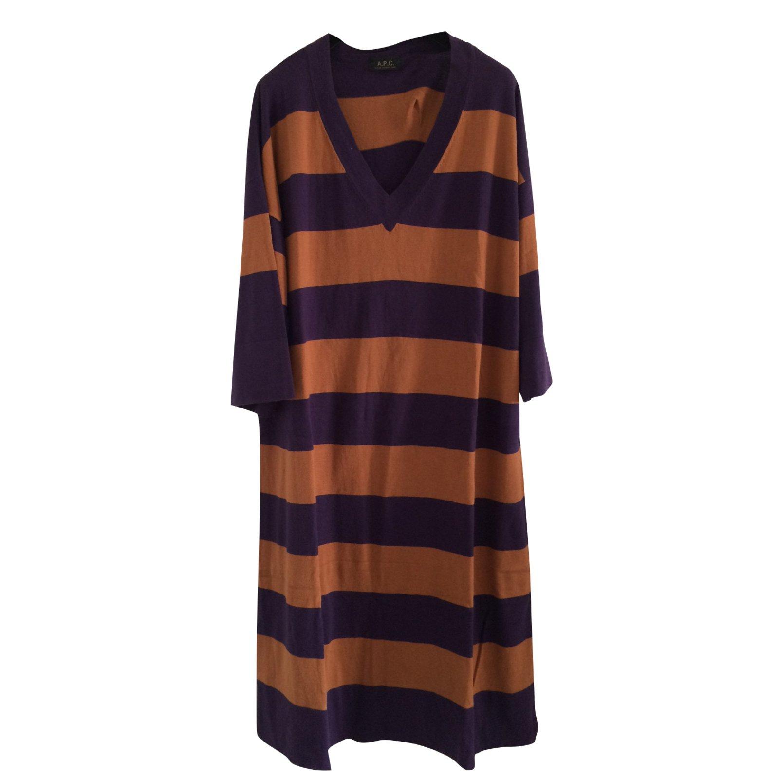 robes apc robe pull ray e coton cachemire multicolore ref. Black Bedroom Furniture Sets. Home Design Ideas