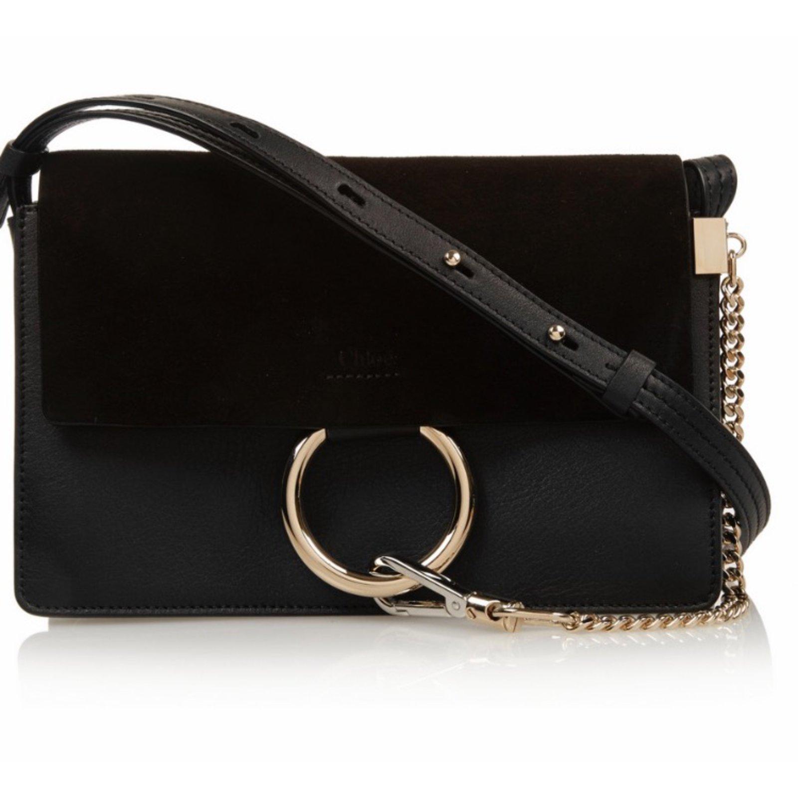 sacs main chlo faye cuir noir joli closet. Black Bedroom Furniture Sets. Home Design Ideas