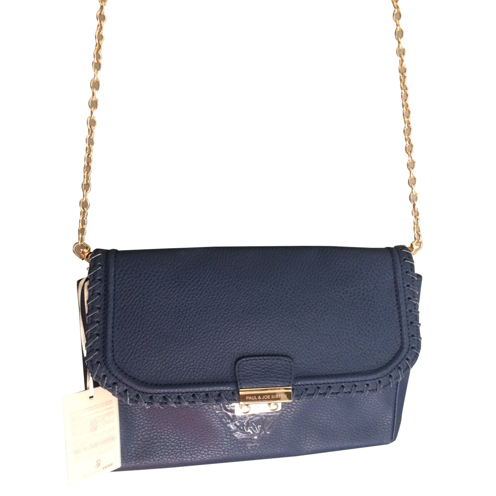 Paul Joe Sister Handbag Handbags Leather Blue Ref 29061