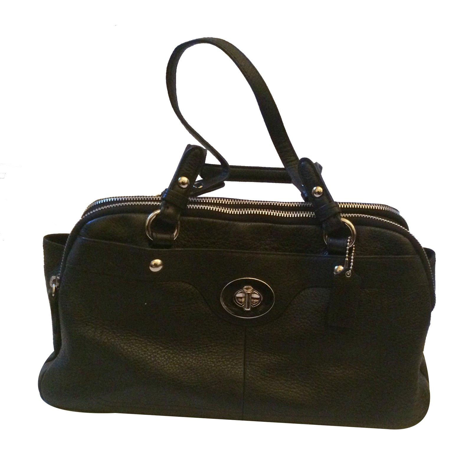 sacs main coach sacs main cuir noir joli. Black Bedroom Furniture Sets. Home Design Ideas