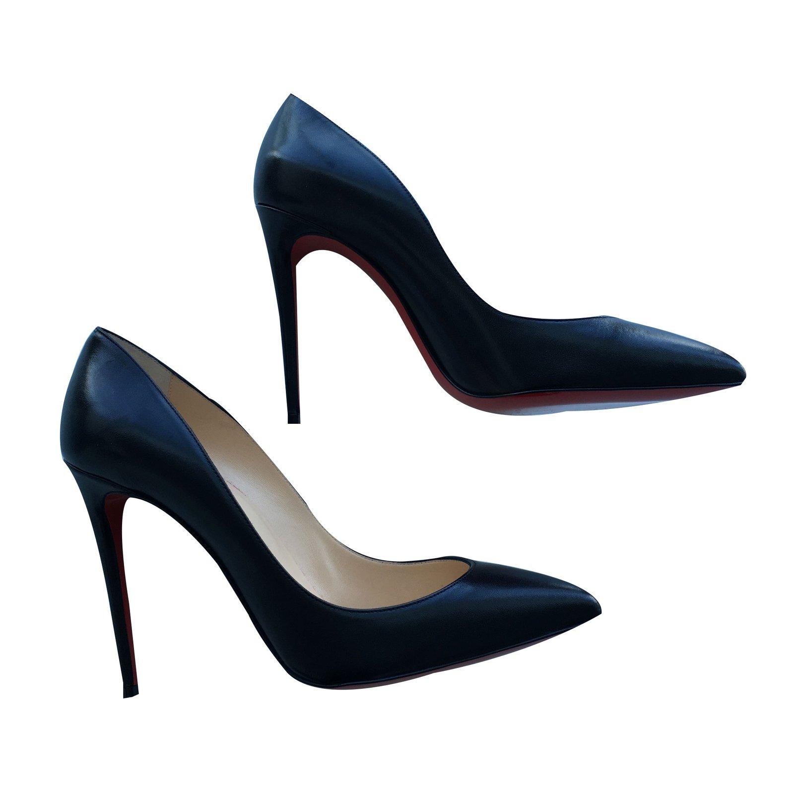 d67385b4ec91 Christian Louboutin PIGALLE Heels Leather Black ref.29316 - Joli Closet