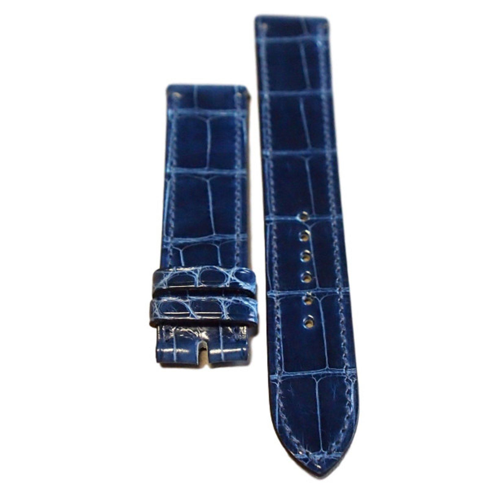 nouveau produit 8e13f 704e7 Bracelet alligator pour montre Hermès