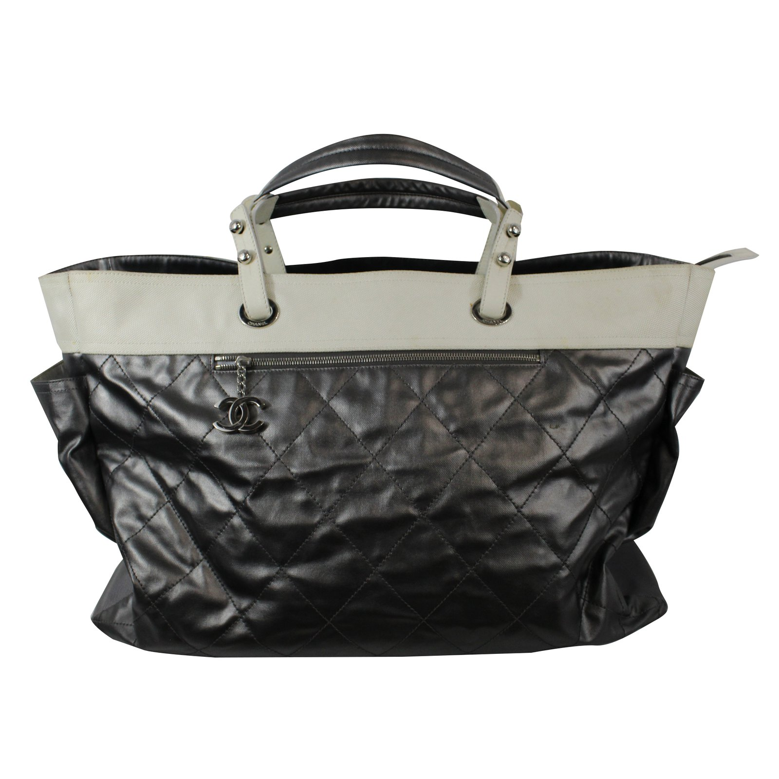 4da4a39259b08c Chanel Travel bag Travel bag Cloth Grey ref.29496 - Joli Closet