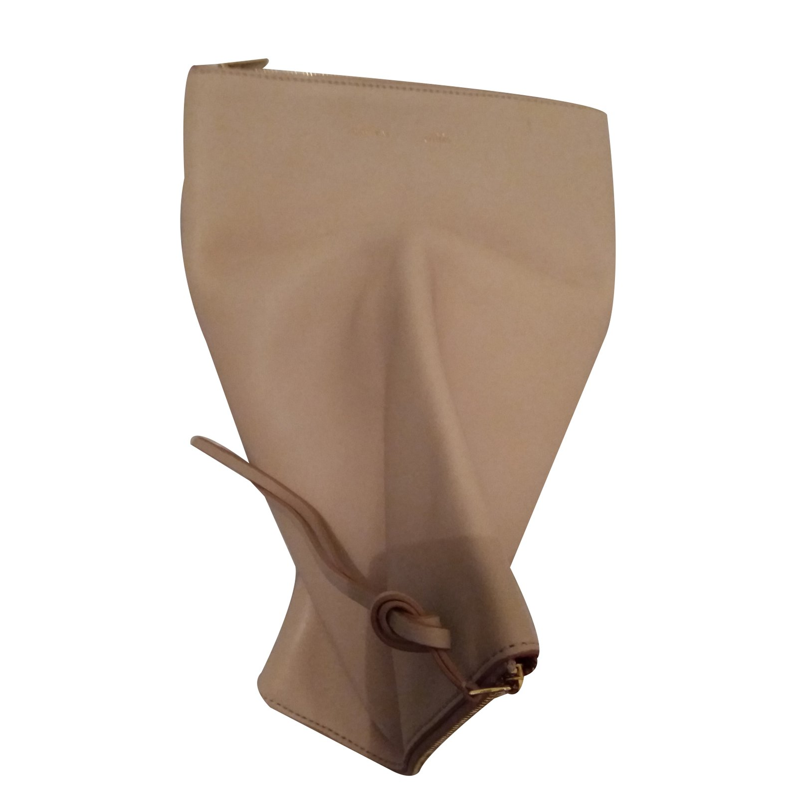 Céline Clutch bag Clutch bags Leather Beige ref.29605 - Joli Closet 35ee823669911