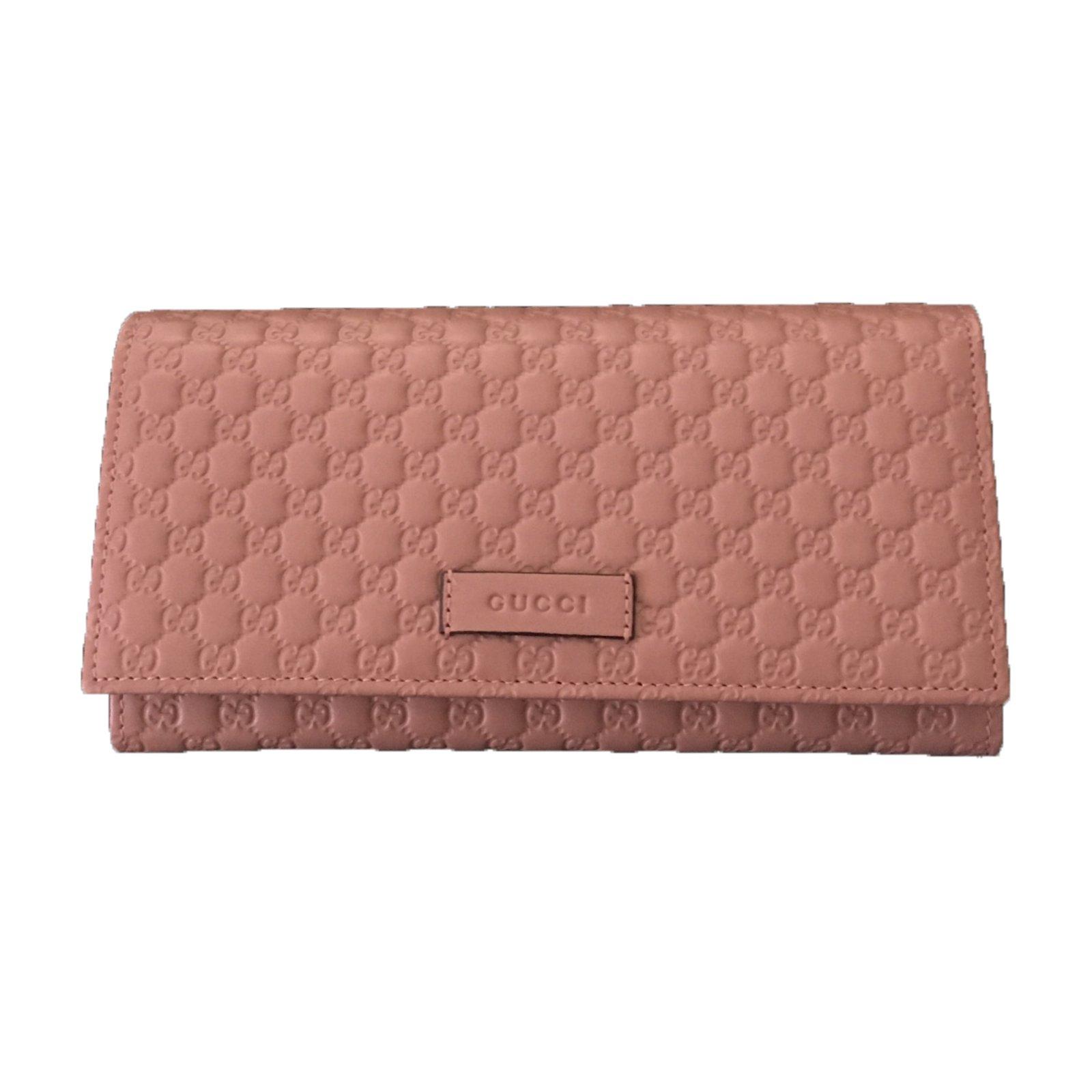 9c5af02cd301 Gucci Microguccissima purse Wallets Leather Pink ref.29981 - Joli Closet