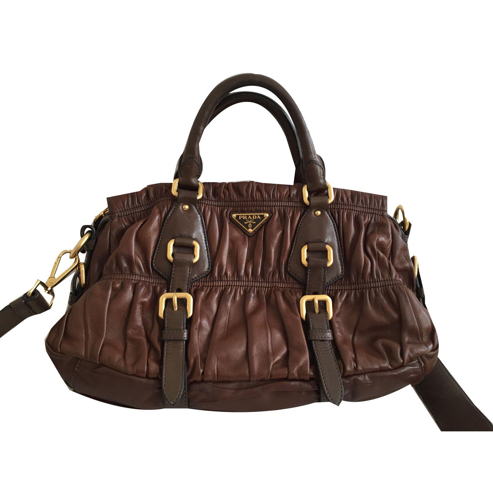 e3f71283 Prada Nappa gauffre bag brown