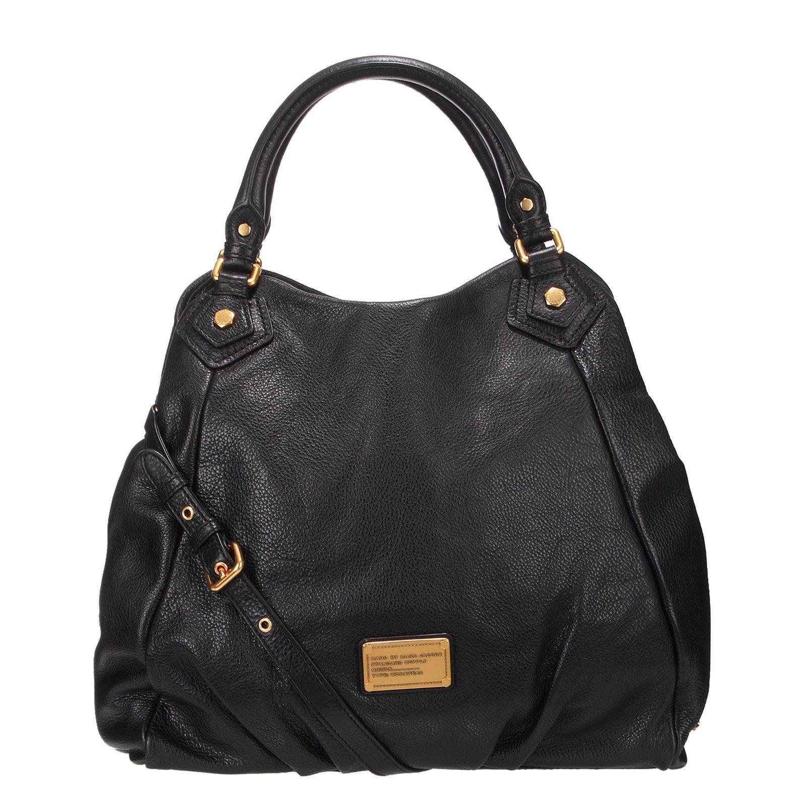 sacs main marc by marc jacobs classic q francesca m dium cuir noir joli closet. Black Bedroom Furniture Sets. Home Design Ideas