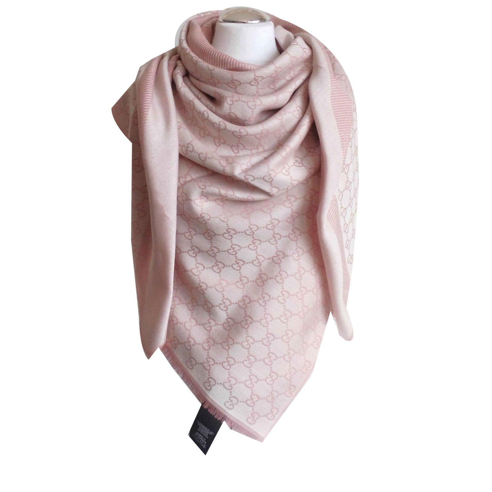 26cb583baff9 Gucci scarf scarves silk wool pink ref joli closet jpg 1600x1600 Gucci  scarves