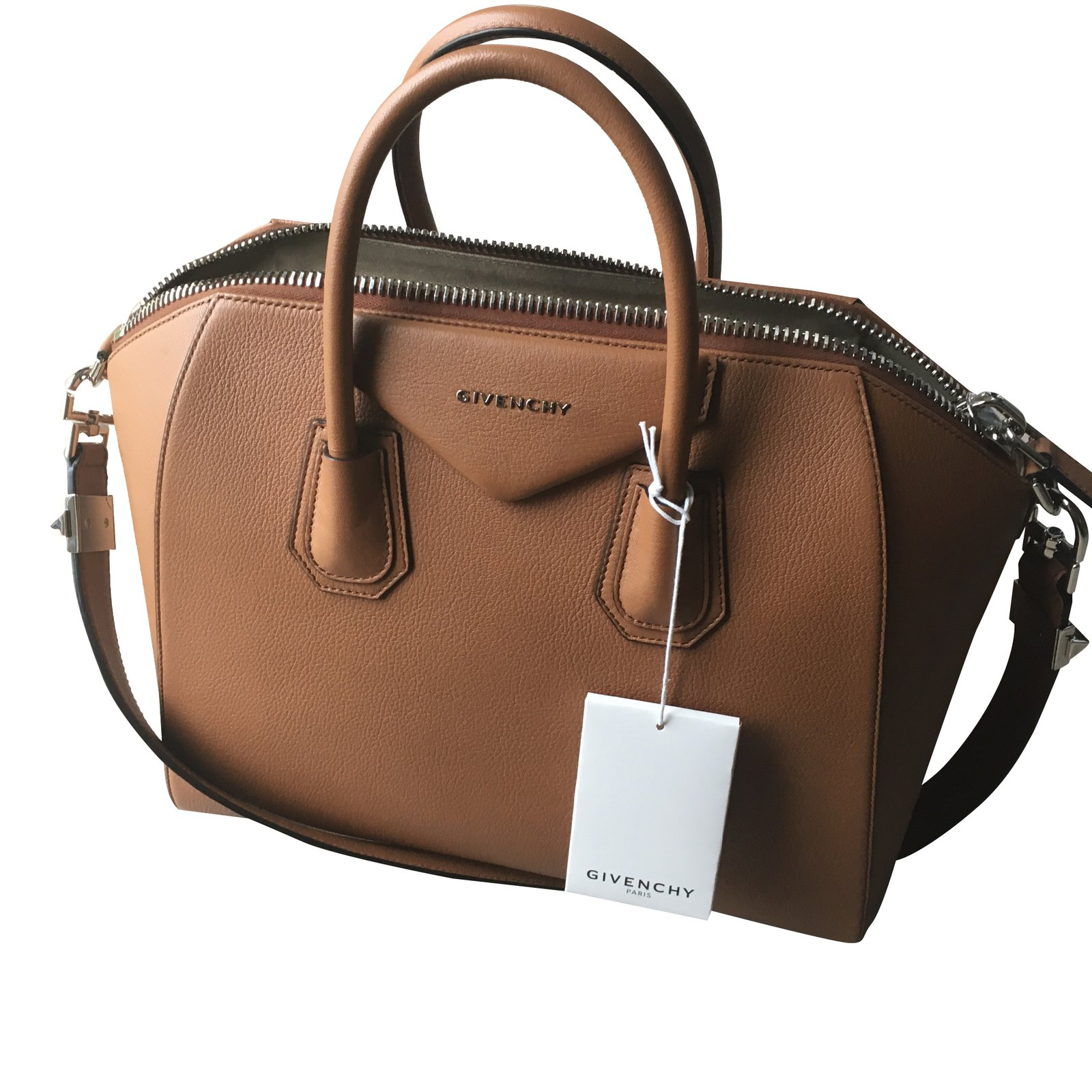 44e34a8bda6 Givenchy Antigona Handbags Leather Caramel ref.30941 - Joli Closet