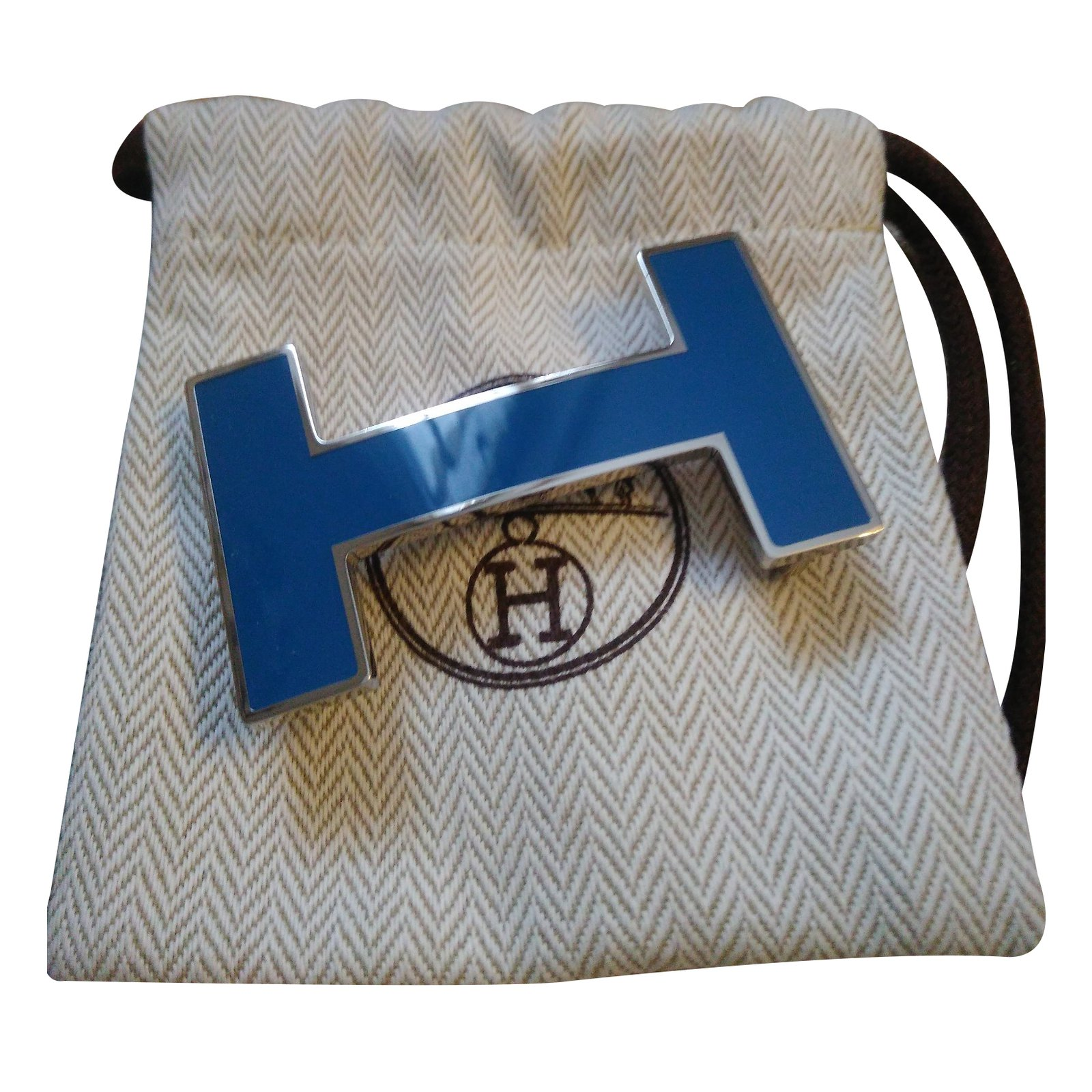 Ceintures Hermès Laque mykonos Autre Bleu ref.30981 - Joli Closet 5cd14abd3ee