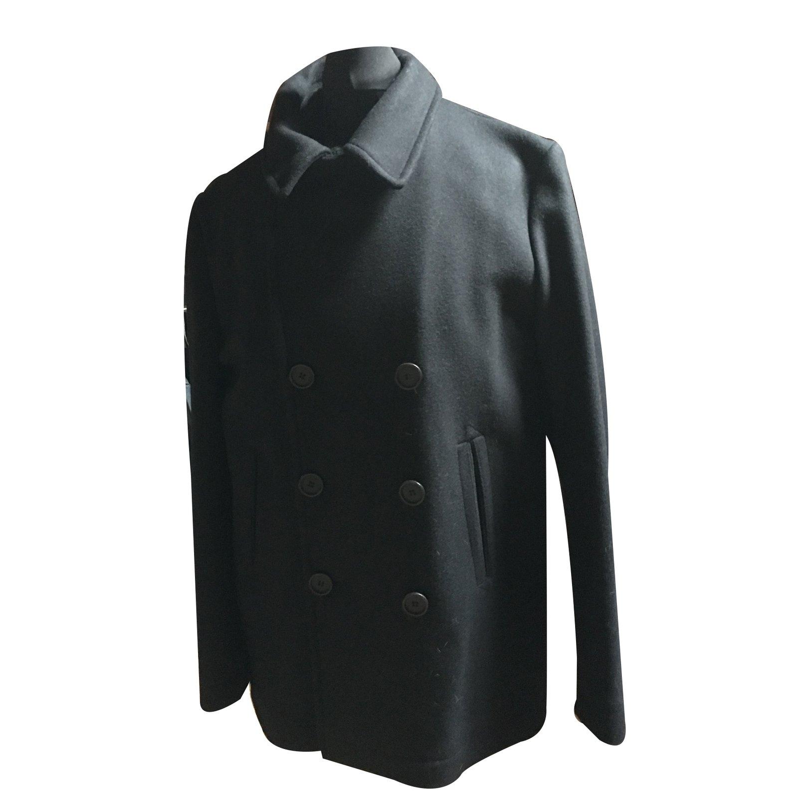 3698b6e679 Manteaux homme Lacoste Caban Laine Noir ref.31069 - Joli Closet