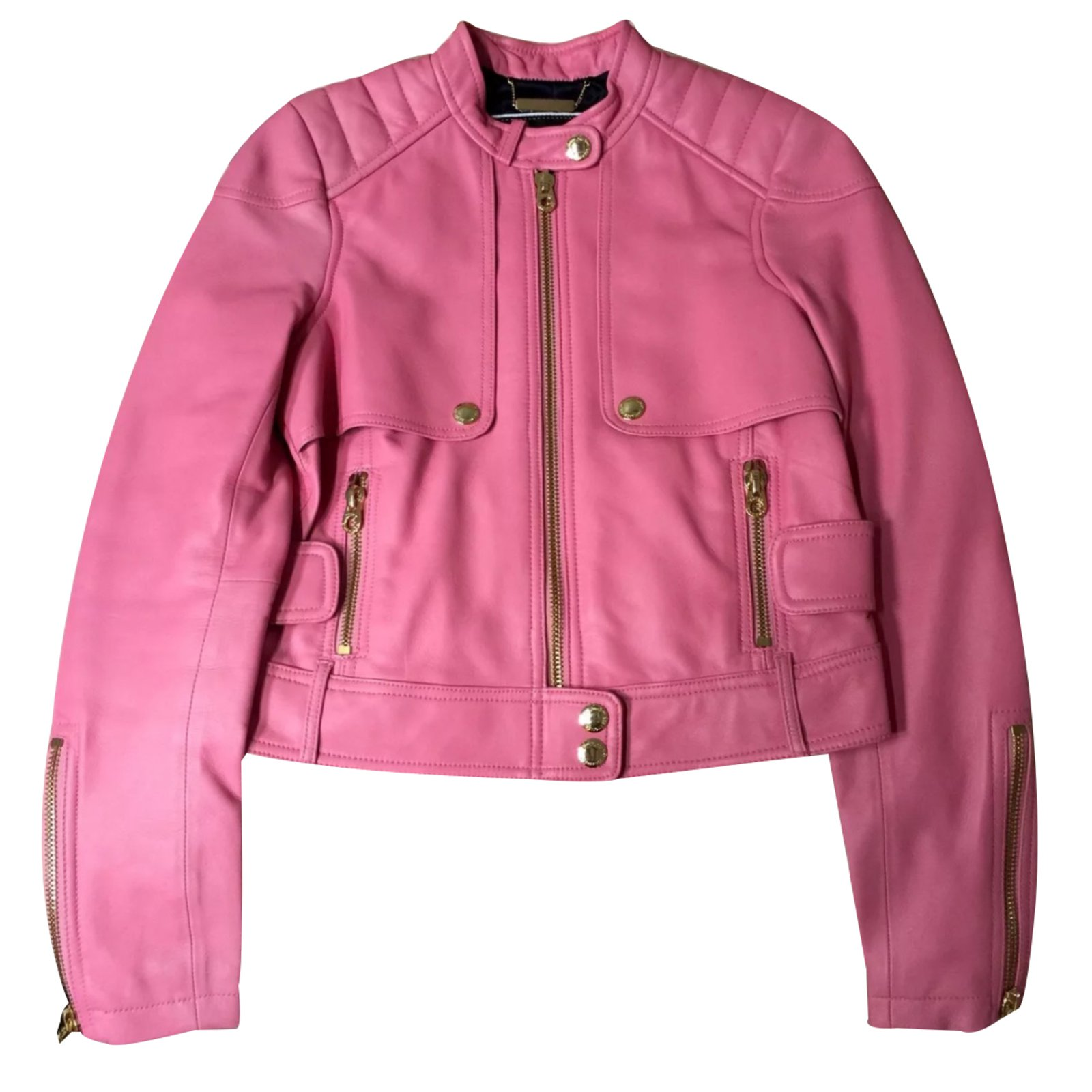 a813e922e19d Vestes Juicy Couture Blouson Cuir Rose ref.31530 - Joli Closet