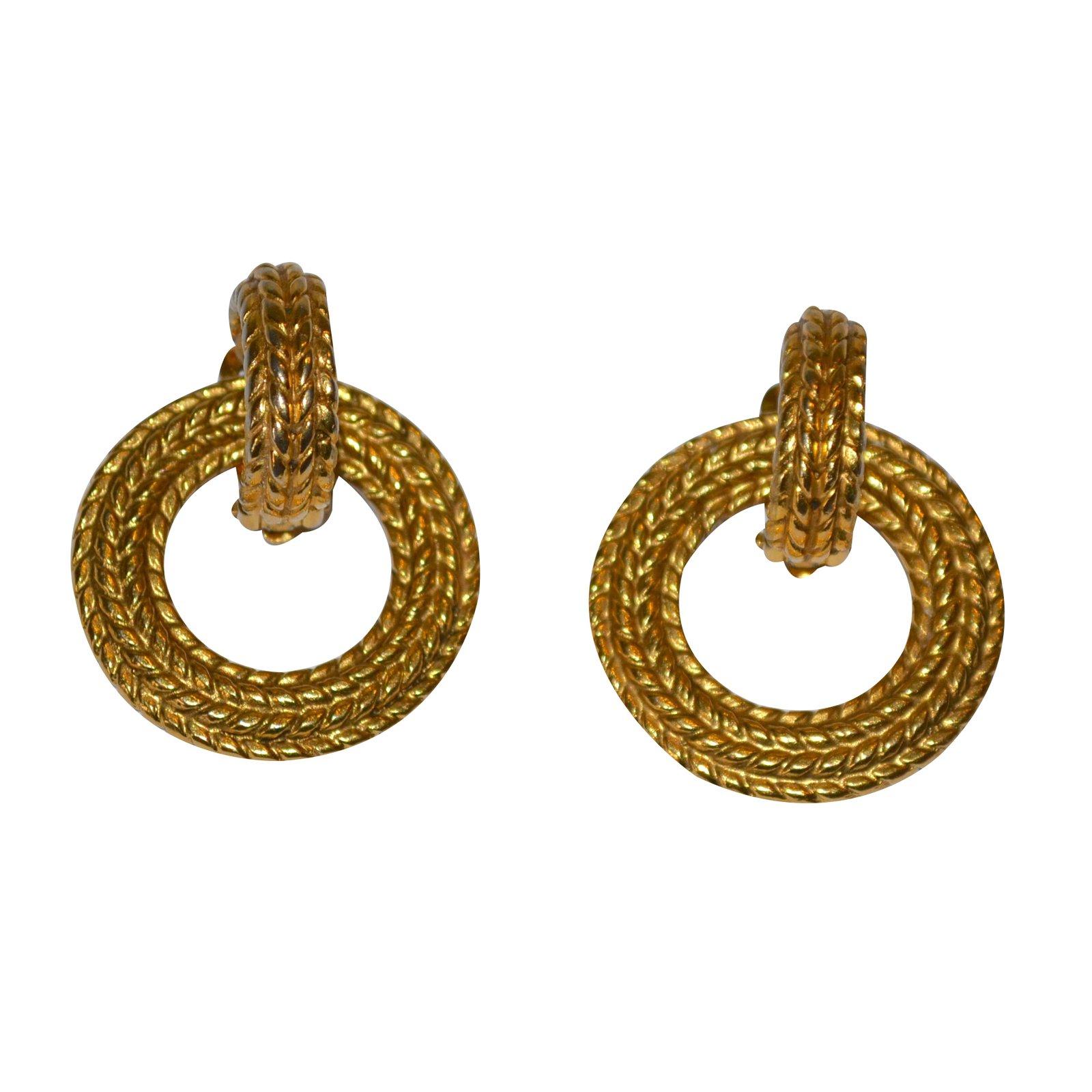 Chanel Earrings Earrings Metal Golden Ref31584