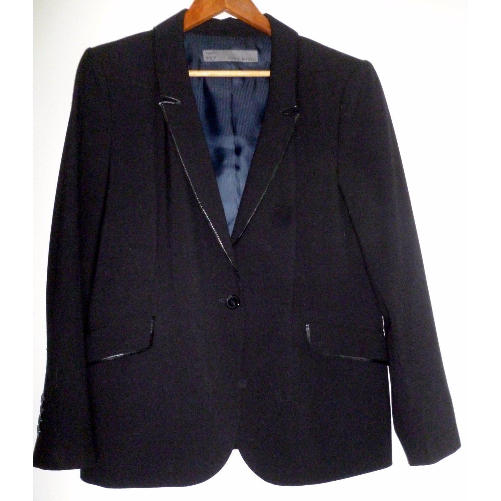Ref Veste Noir Polyester Joli Closet 31696 Zara Vestes RIqUwxT5
