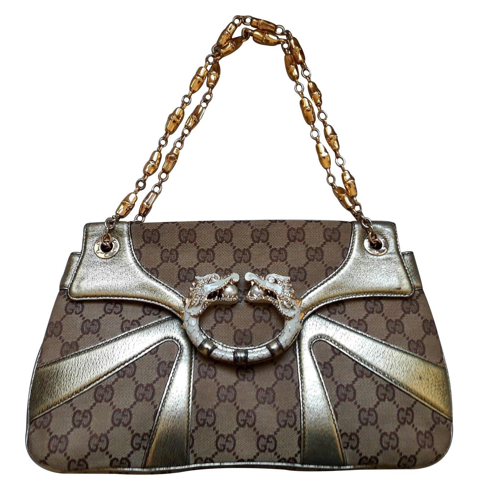 d1cb710ab16 Sacs à main Gucci Sacs à main Toile Marron ref.31849 - Joli Closet