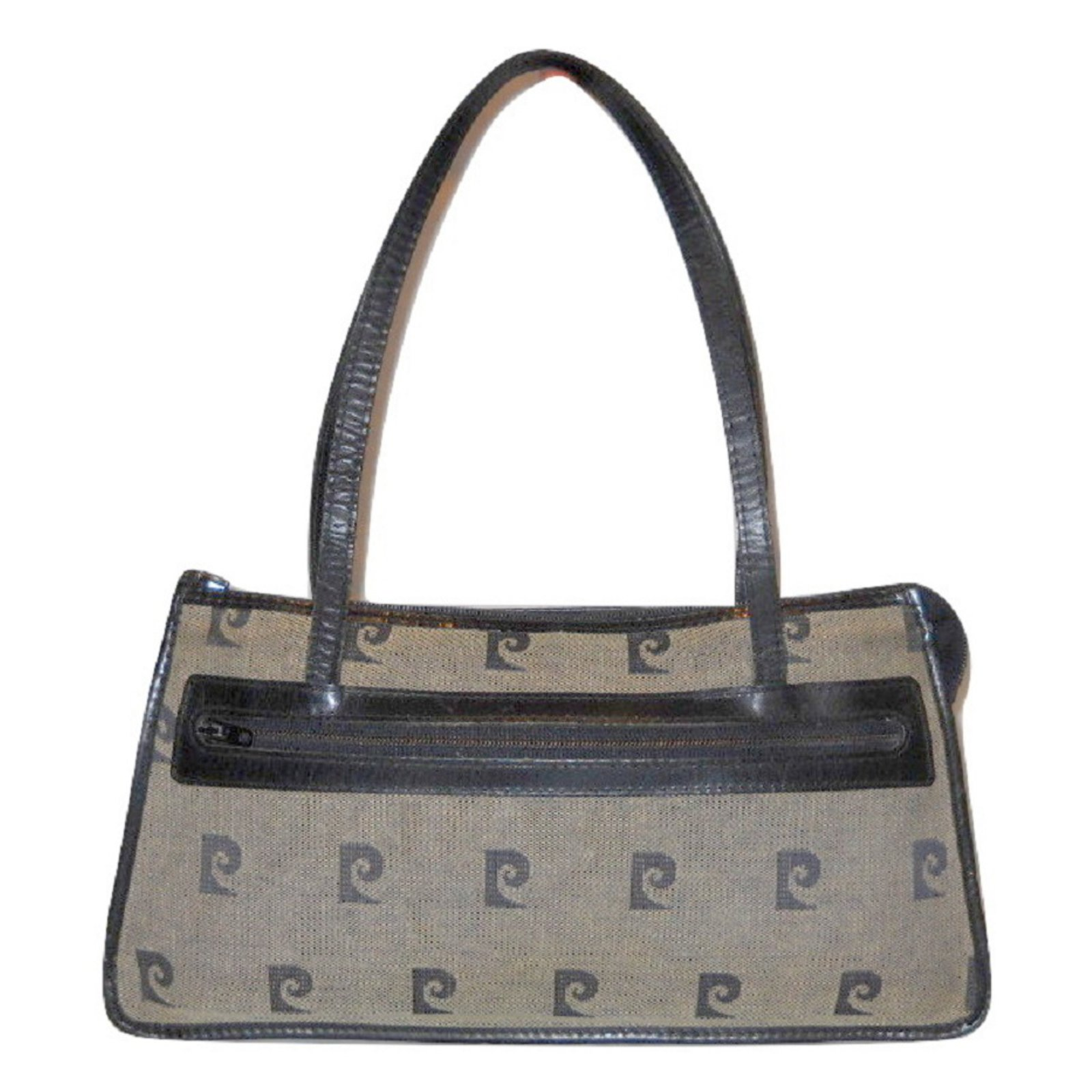 latest fashion pick up outlet on sale Pierre Cardin Handbag Handbags Leather,Cloth Blue ref.32110 - Joli ...