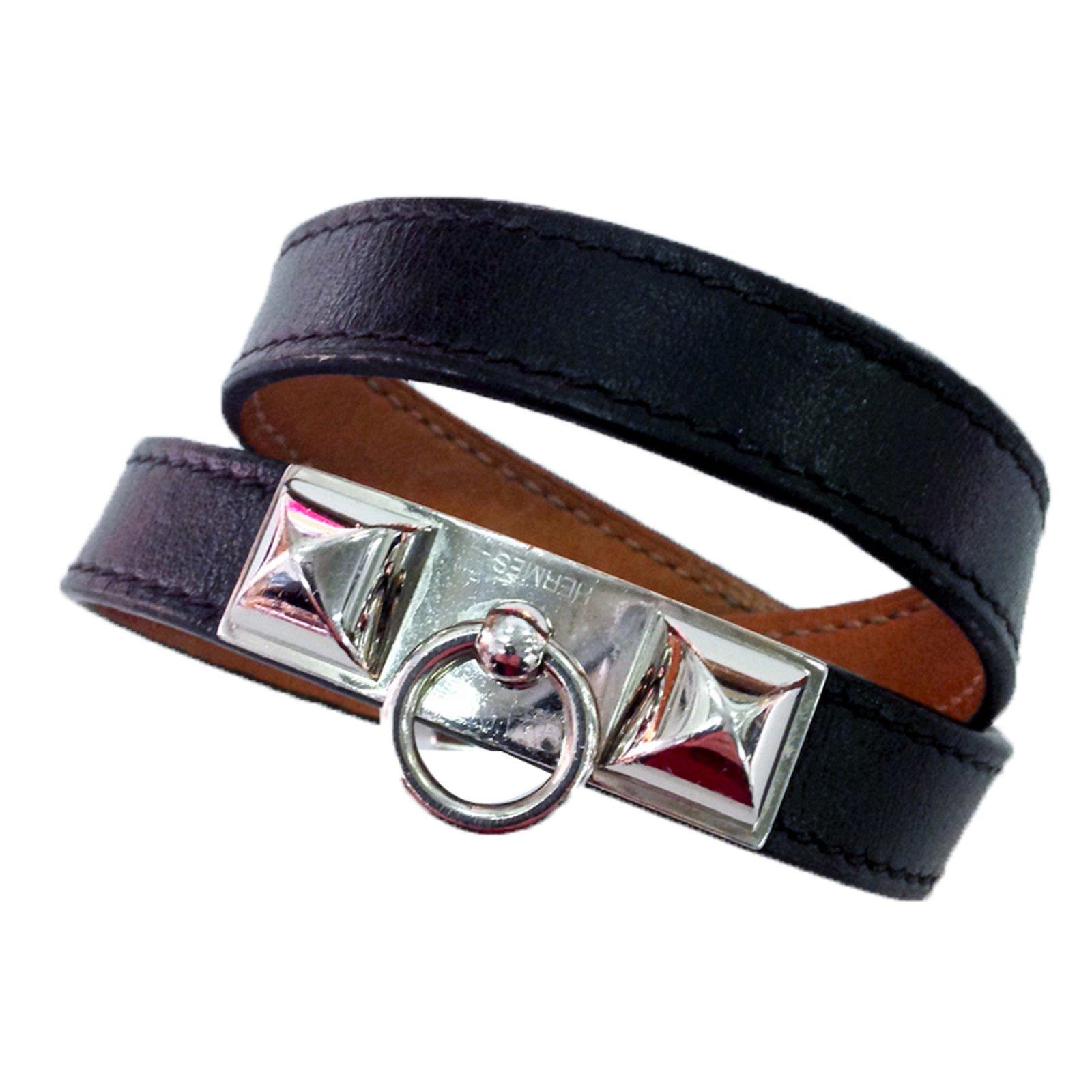 95f564f0be7 Hermès Bracelet Bracelets Leather Black ref.32254 - Joli Closet