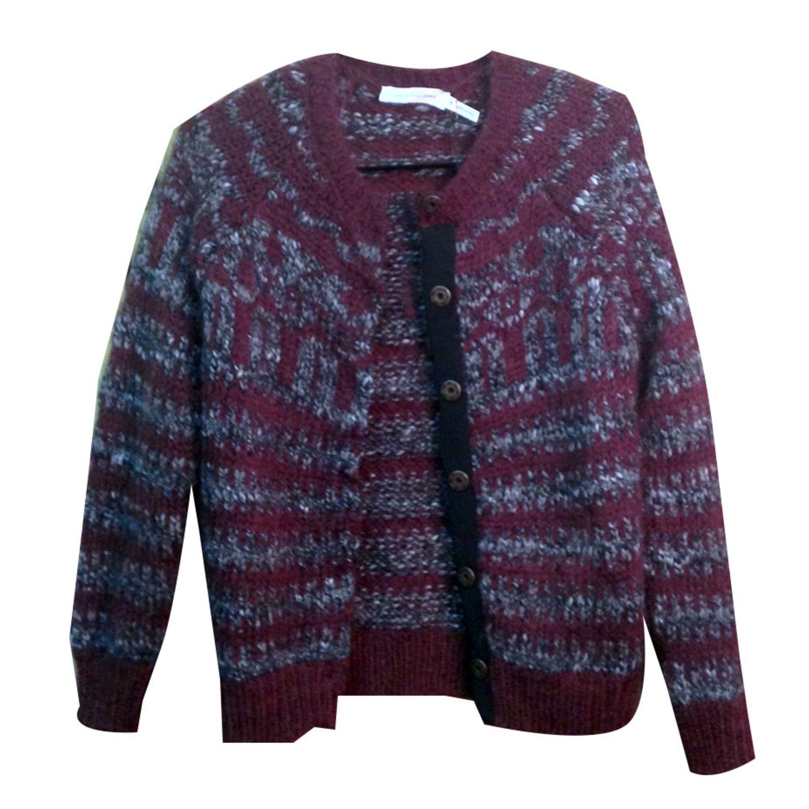 Isabel Marant Etoile Cardigan Knitwear Wool Dark red ref.32264 ...