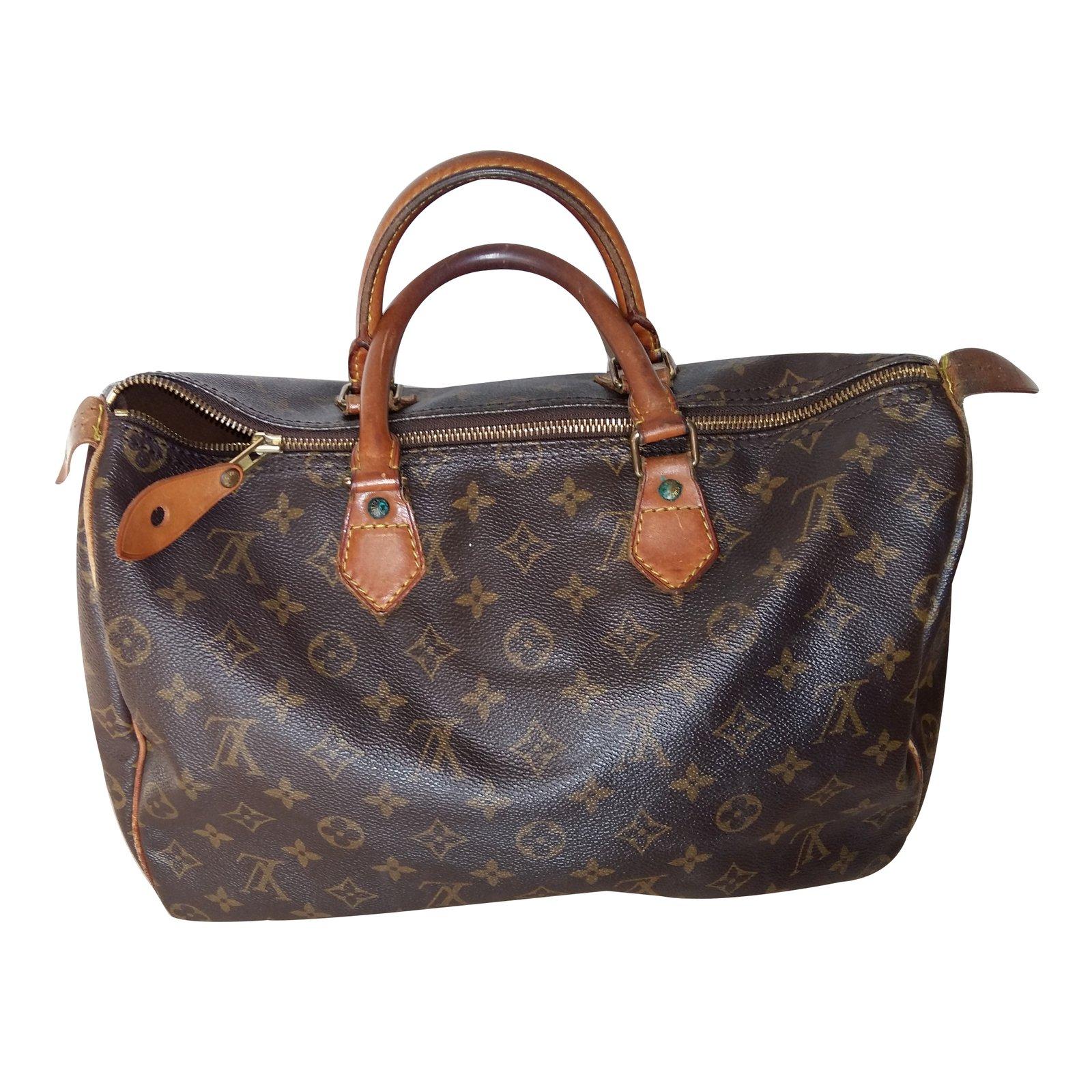 257fed1e47c2 Sacs à main Louis Vuitton Speedy 35 Toile Marron ref.32309 - Joli Closet