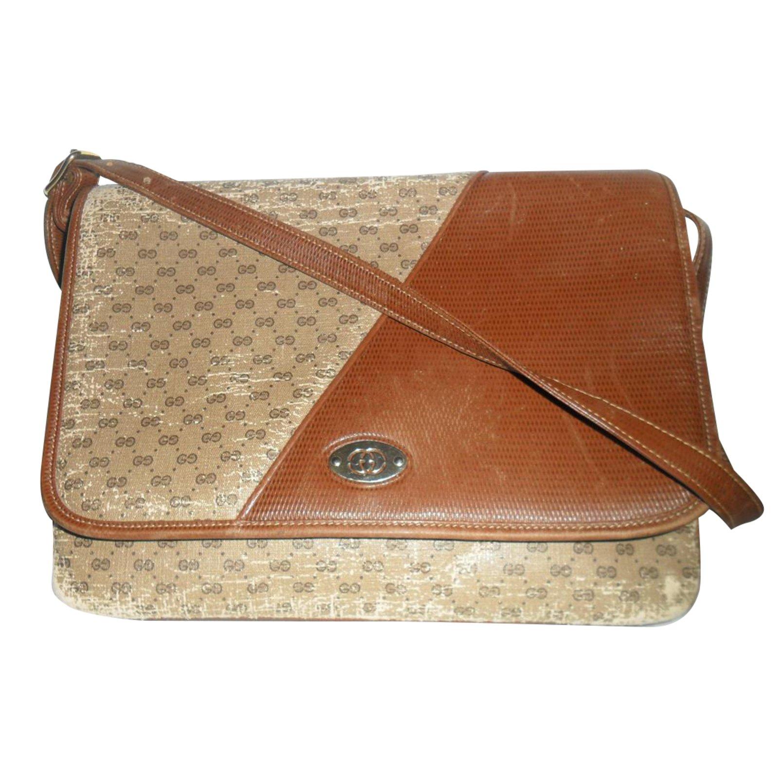 28b556dee3b Gucci vintage bag Handbags Leather Brown