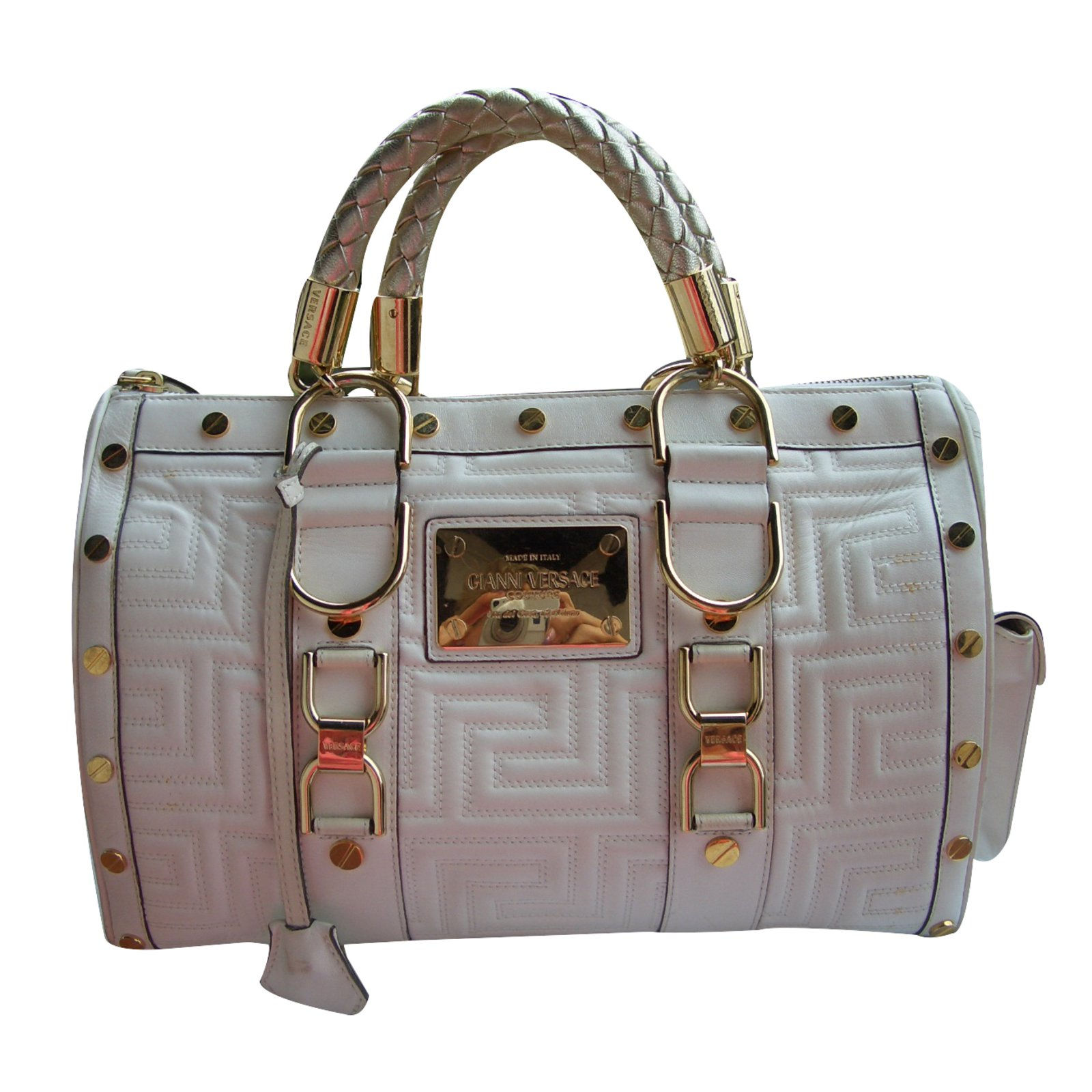 1193da61d2 Gianni Versace Handbag Handbags Leather Cream ref.32645 - Joli Closet