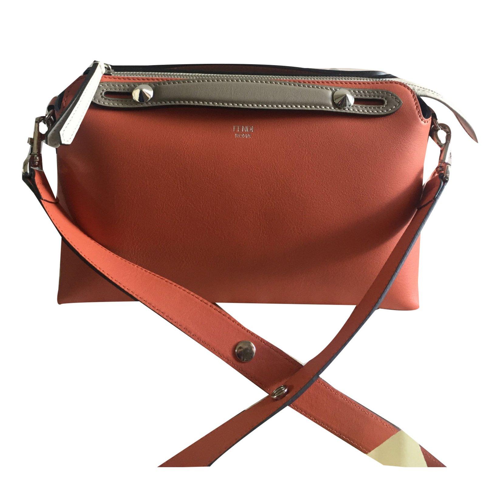2036c7e8f67e Fendi Bauletto by the way fendi bicolor Handbags Leather Pink ref.32703