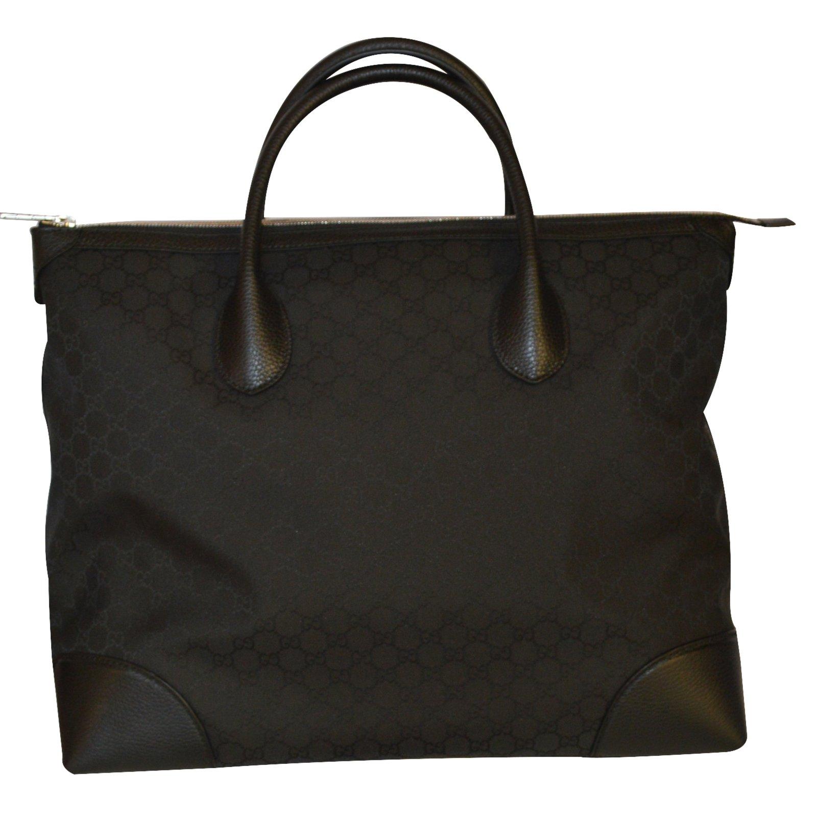 Gucci gg canvas small dollar calf black bag travel gucci Travel ...