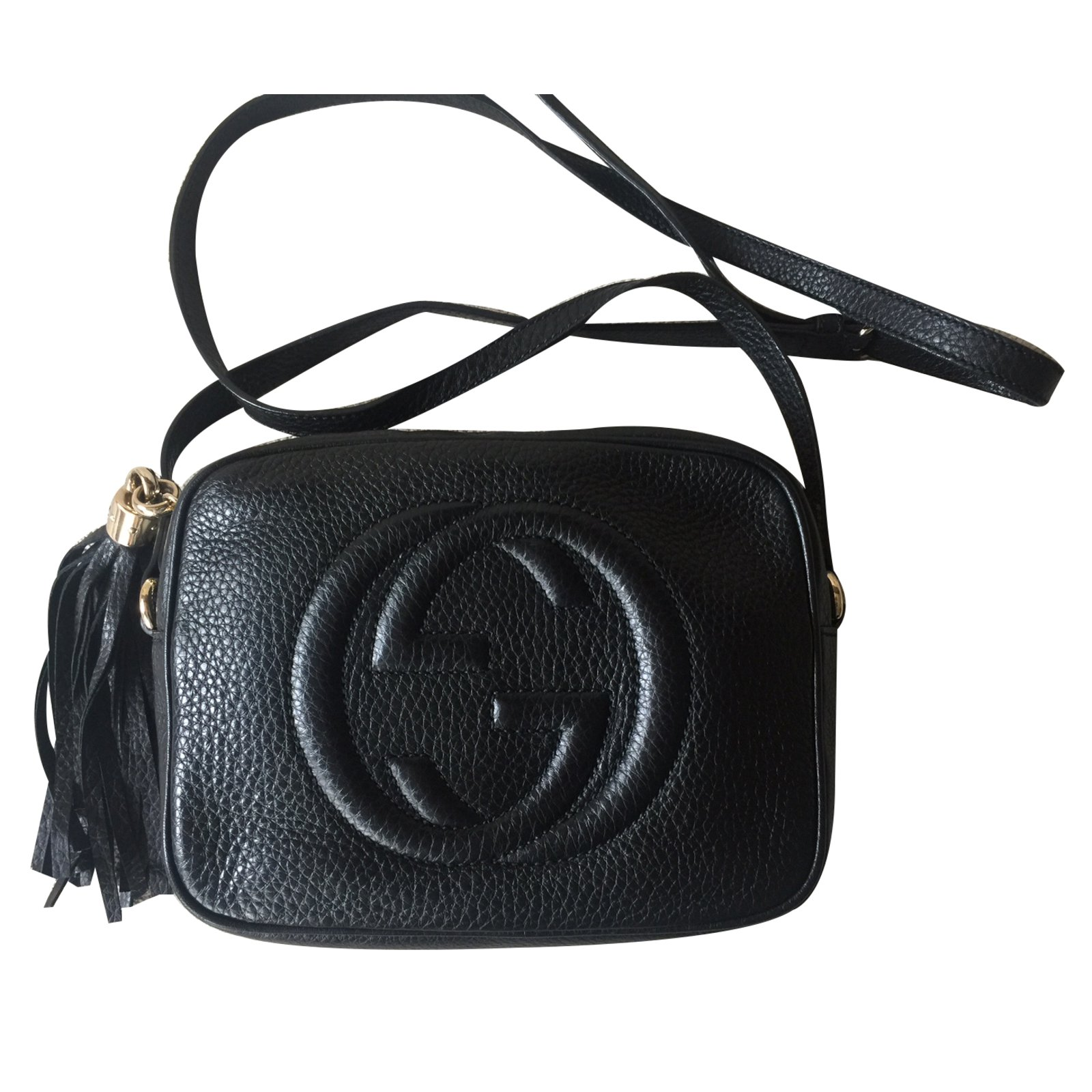 754a890735e6 Gucci GUCCI BLACK SOHO DISCO Handbags Leather Black ref.32844 - Joli ...