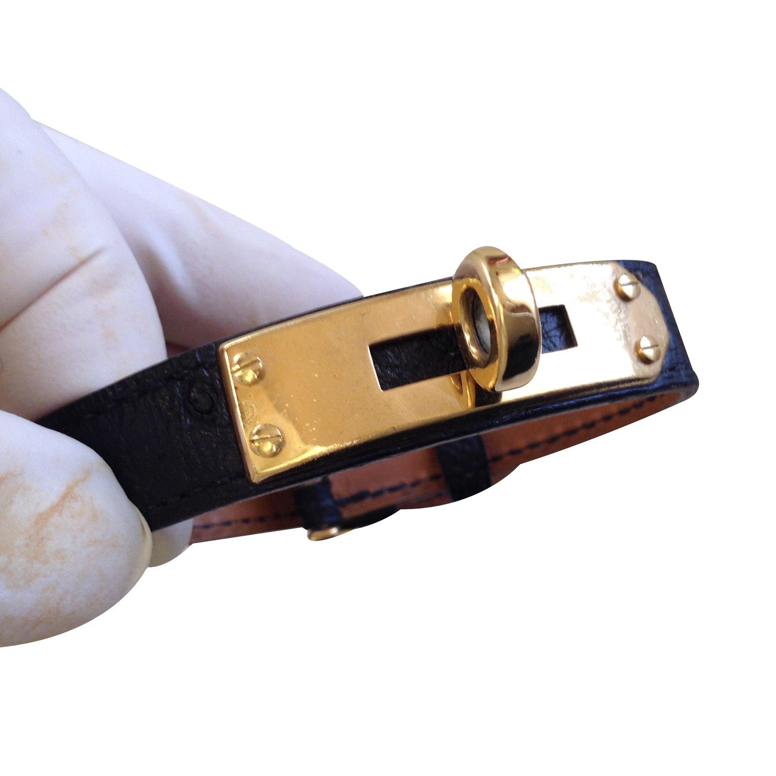 ... spain bracelets hermès bracelet kelly cuir noir ref.33073 4d4cf 35ff8 c0d50df3d0d