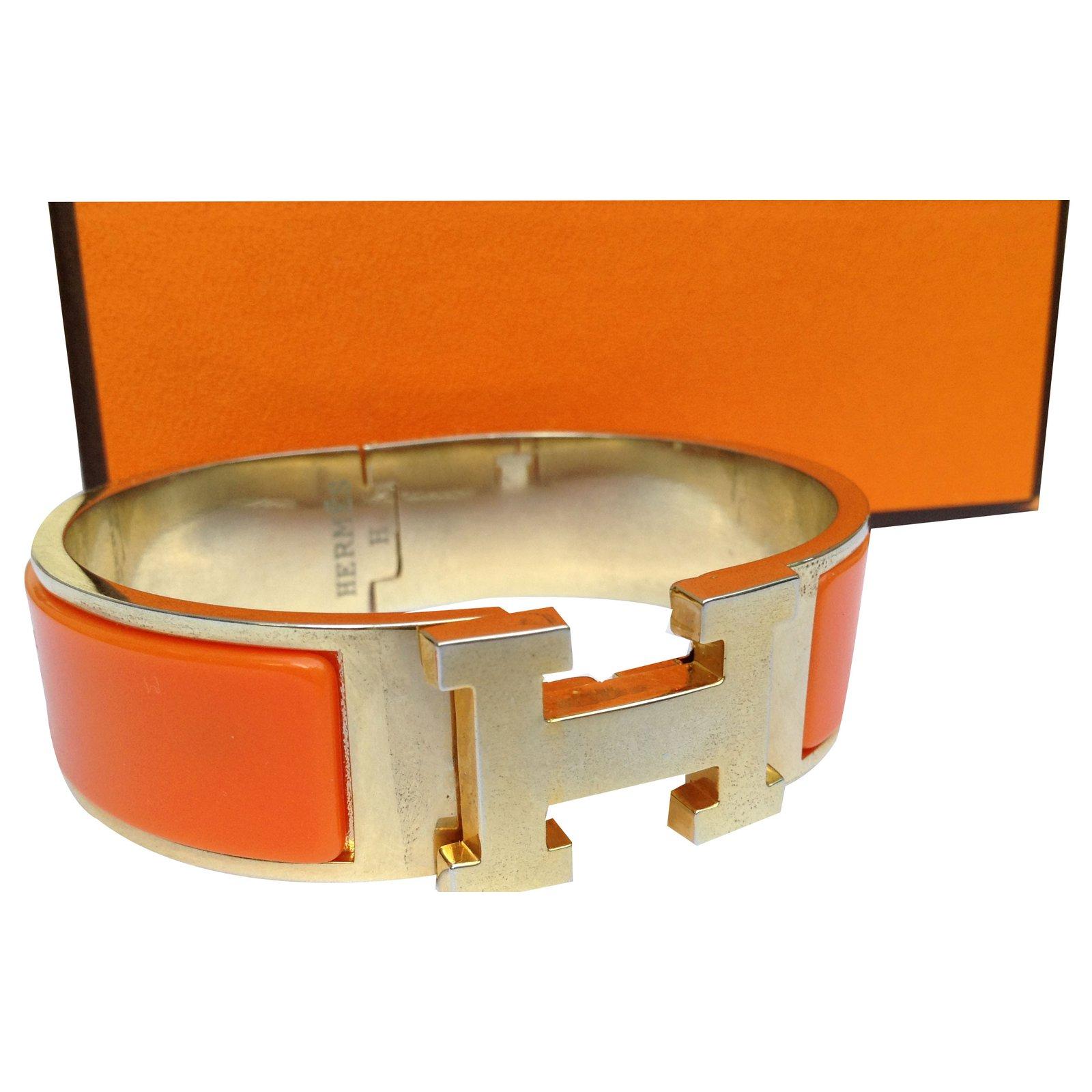 Bracelets Hermès BRACELET CLIC H Autre Orange ref.33081