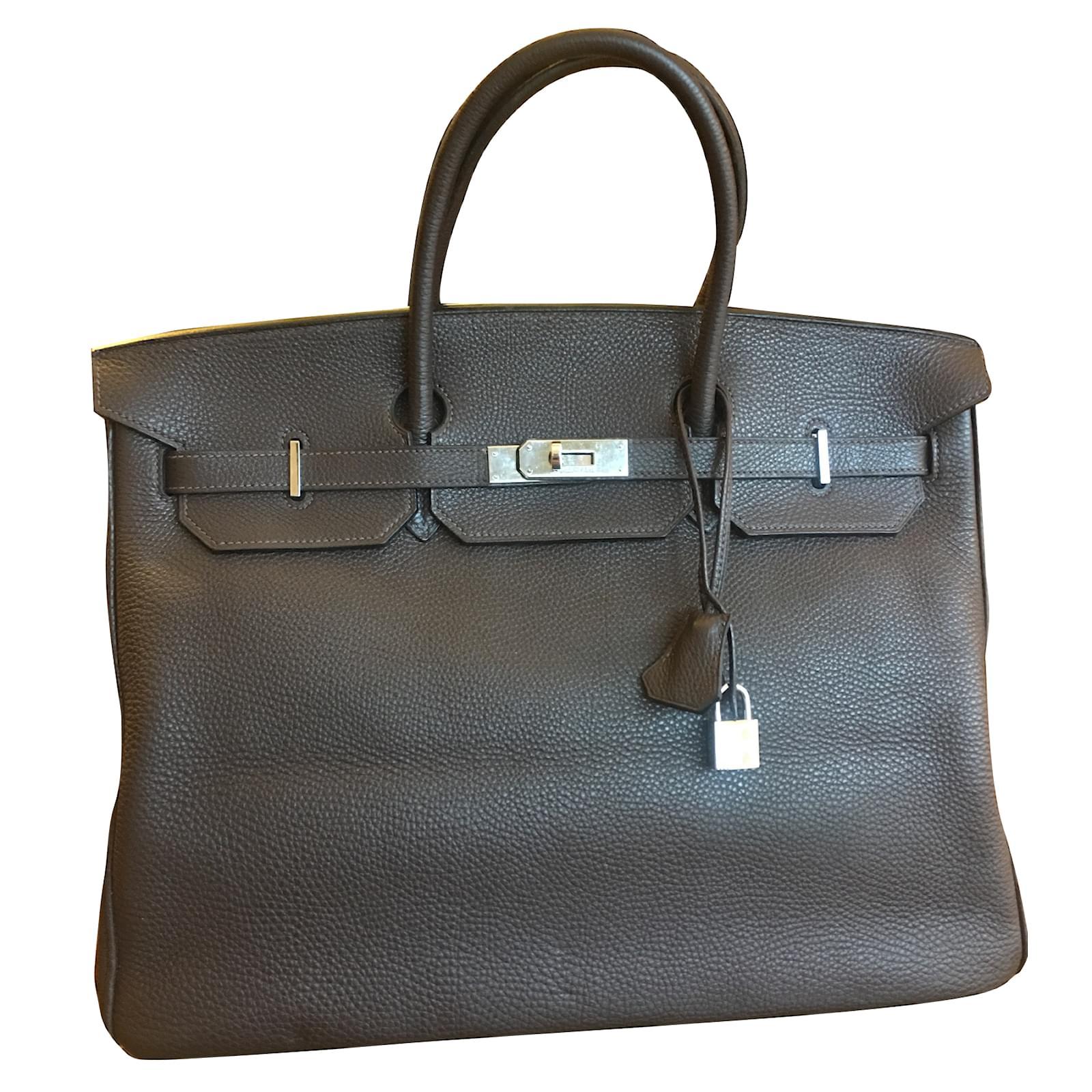 e8a019a24b Sacs à main Hermès BIRKIN 40cm Cuir Marron ref.33371 - Joli Closet
