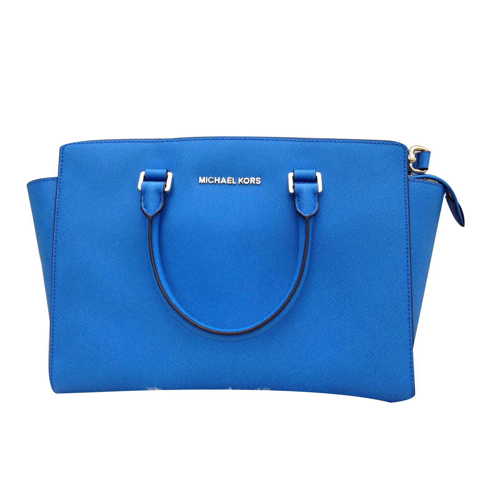 6d2c38f3541c Michael Kors Handbag Handbags Leather Blue Ref 33440 Joli Closet