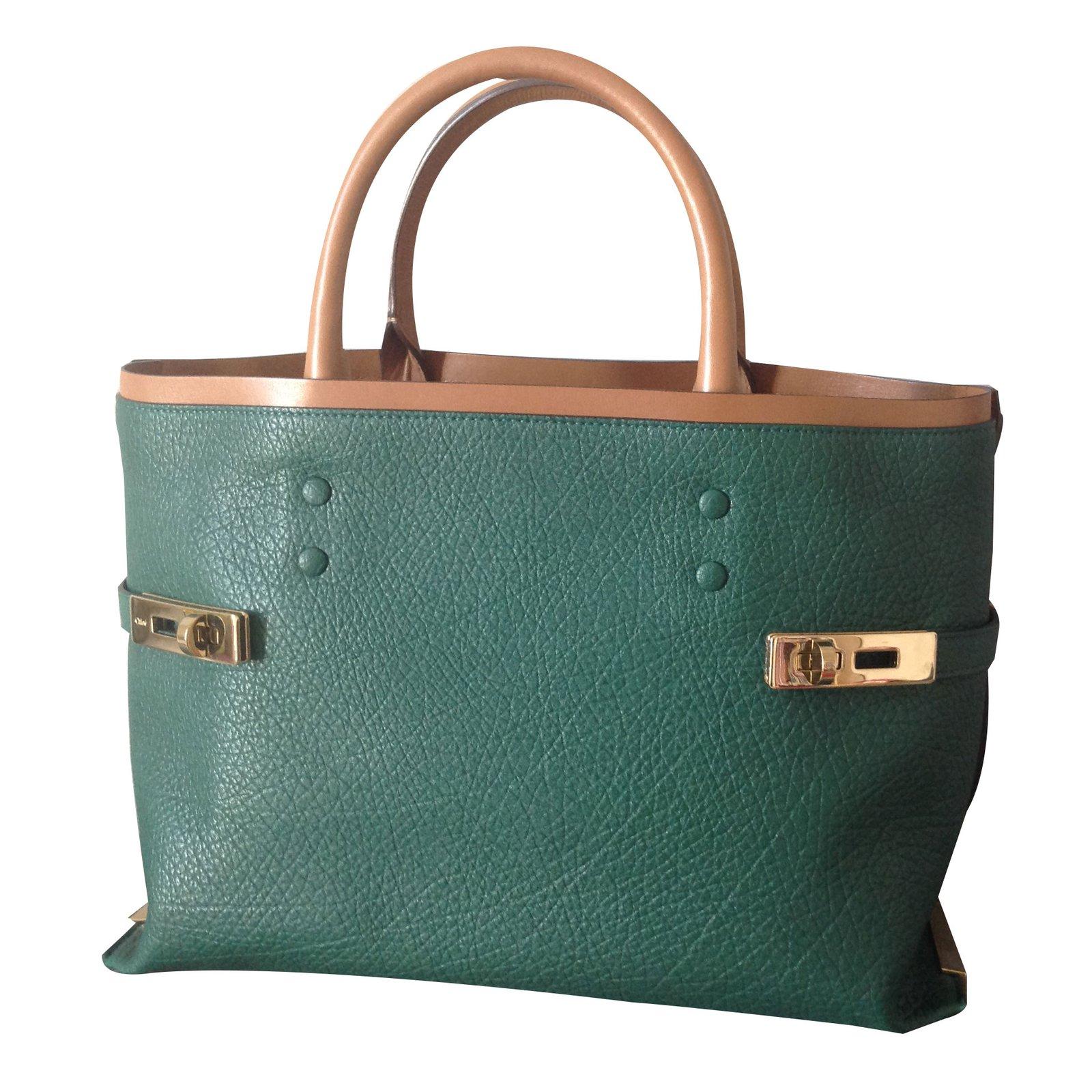 sacs main chlo sac main cuir vert joli closet. Black Bedroom Furniture Sets. Home Design Ideas