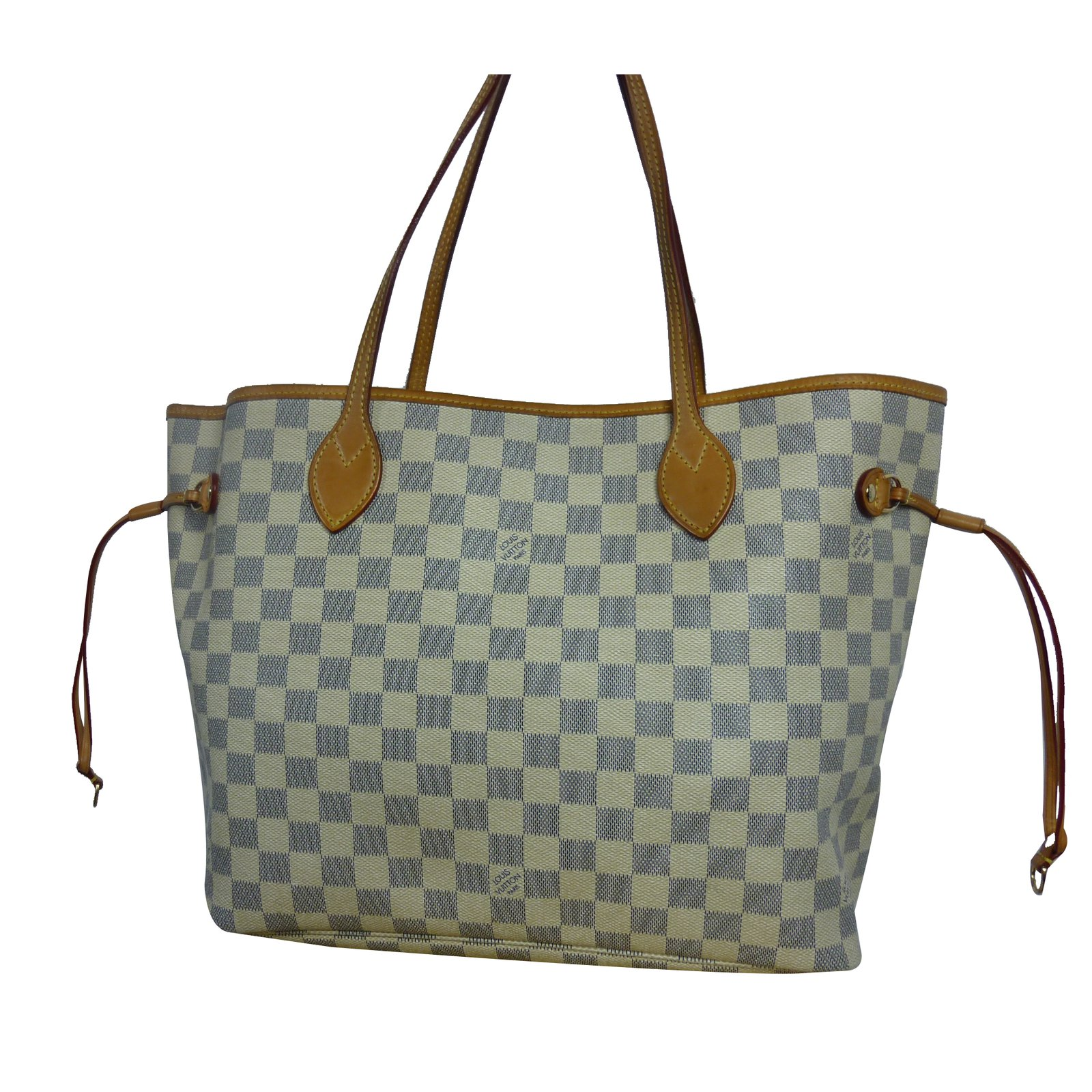 bb36051ae33 Cabas Louis Vuitton Sac Louis Vuitton Neverfull MM à damier azur en très  bon état !