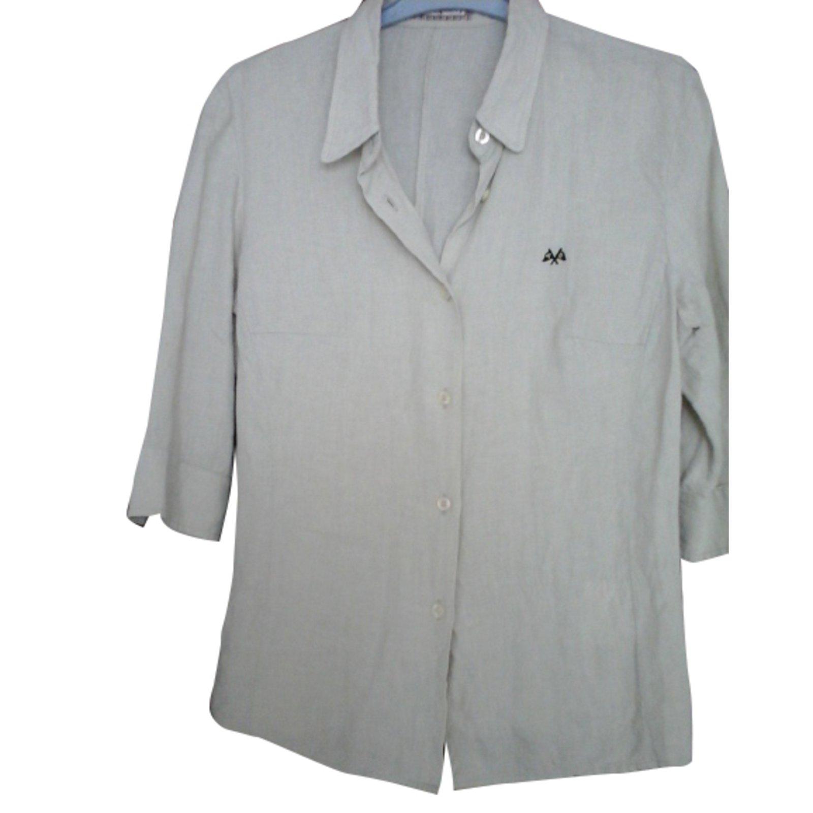 Thomas Burberry 100% linen shirt Tops Linen Eggshell ref.34066 ... 96c9ff4097c