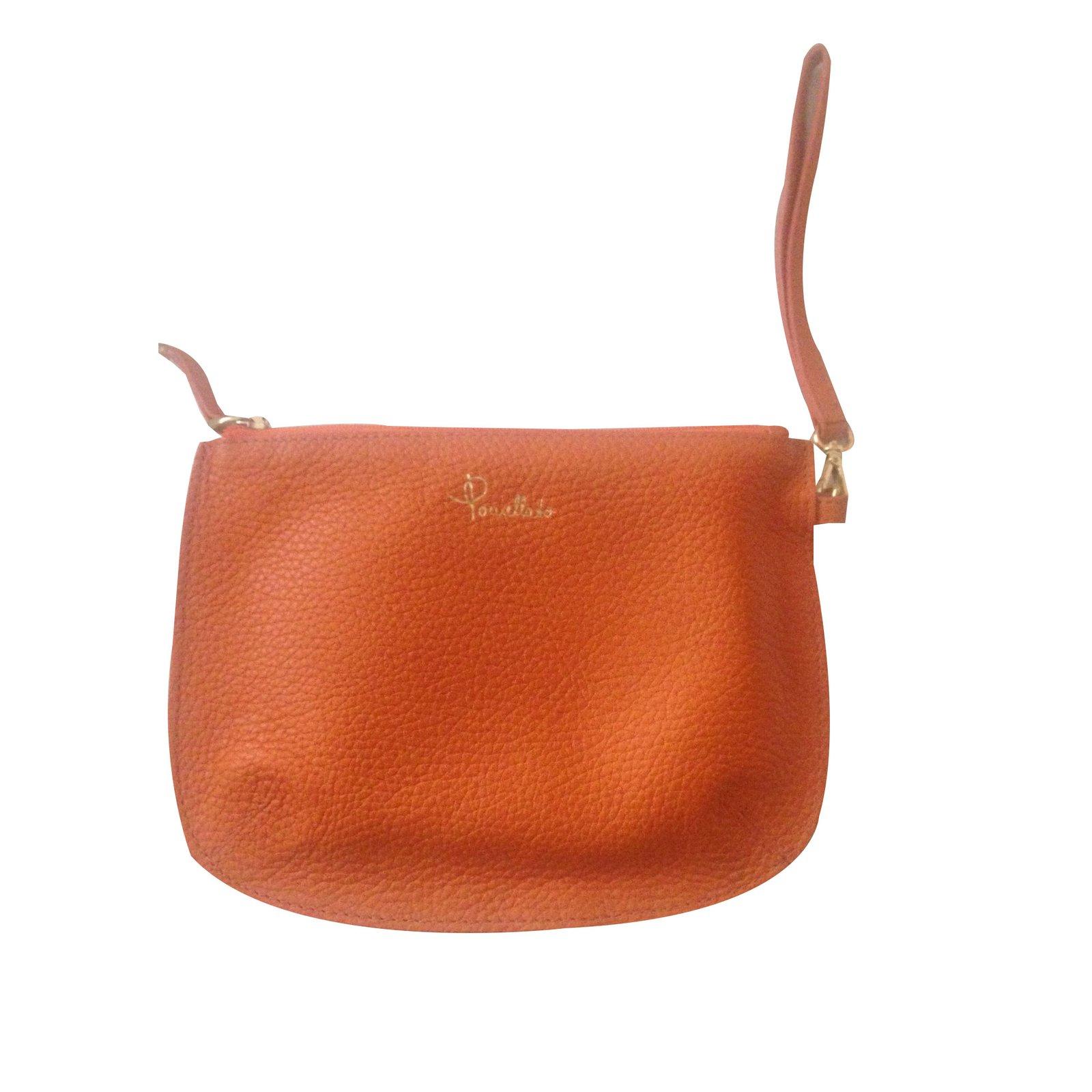 Pomellato Clutch Bag Bags Leather Orange Ref 34160