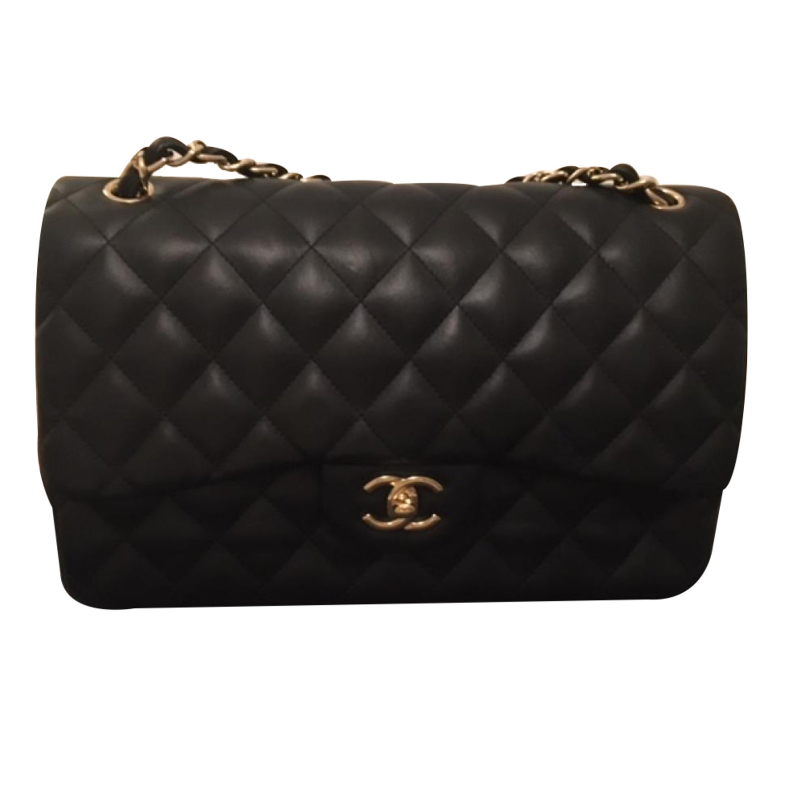 Sacs main chanel chanel timeless medium noir cuir noir for Sac chanel interieur